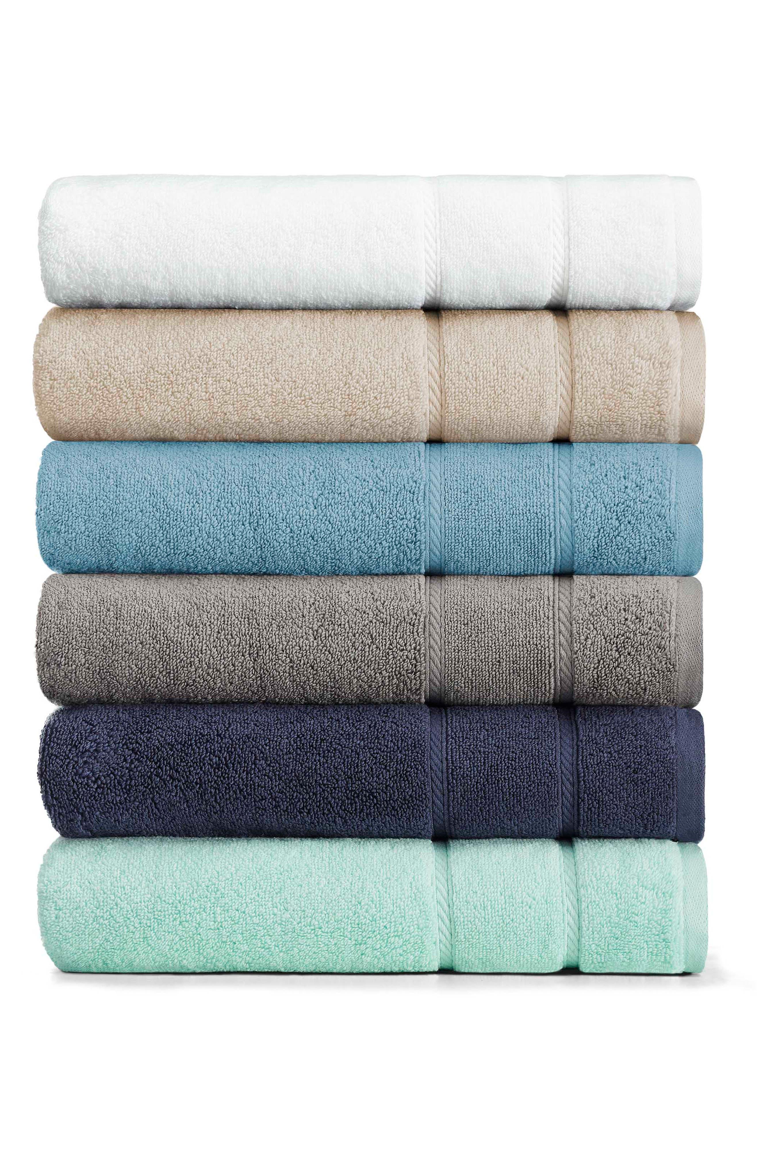 NAUTICA, Belle Haven Set of 2 Bath Towels, Alternate thumbnail 2, color, DARK GREY