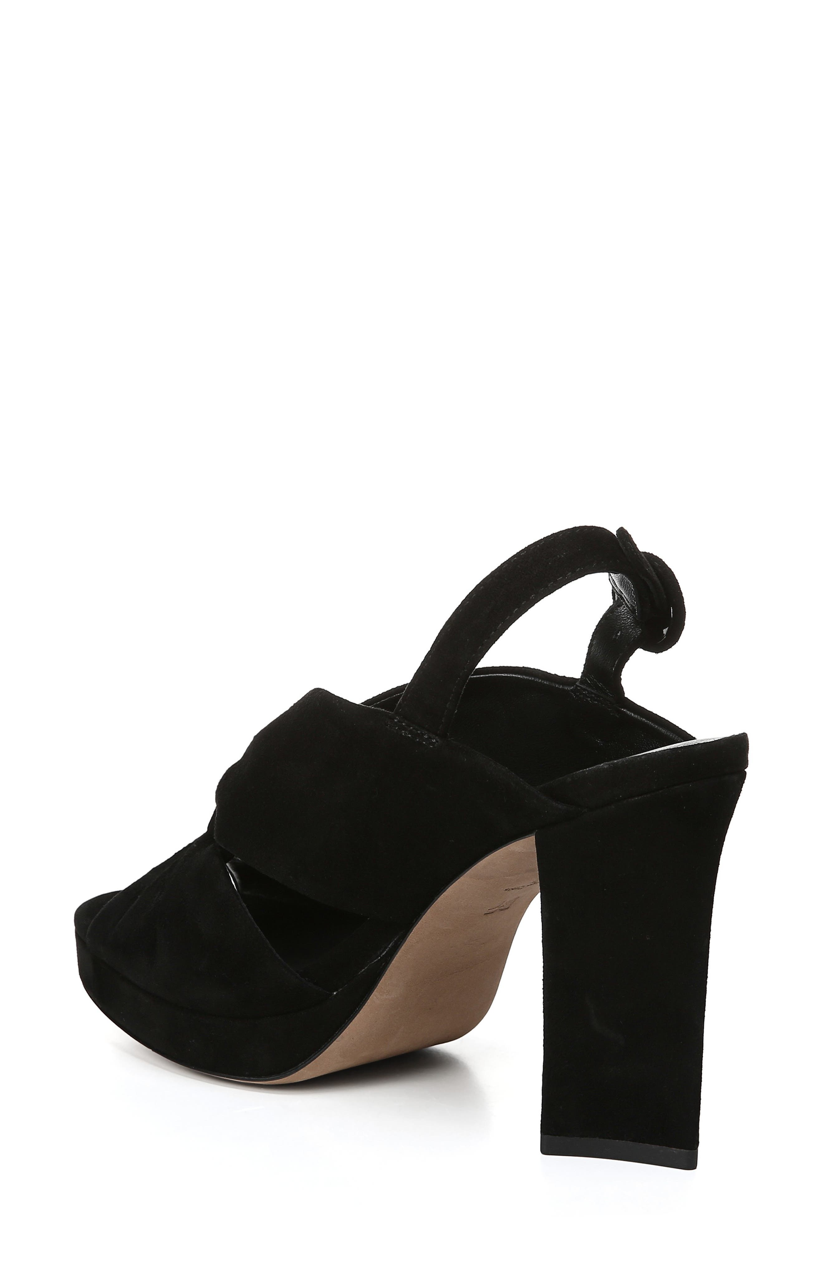 DIANE VON FURSTENBERG, Heidi Platform Sandal, Alternate thumbnail 2, color, BLACK