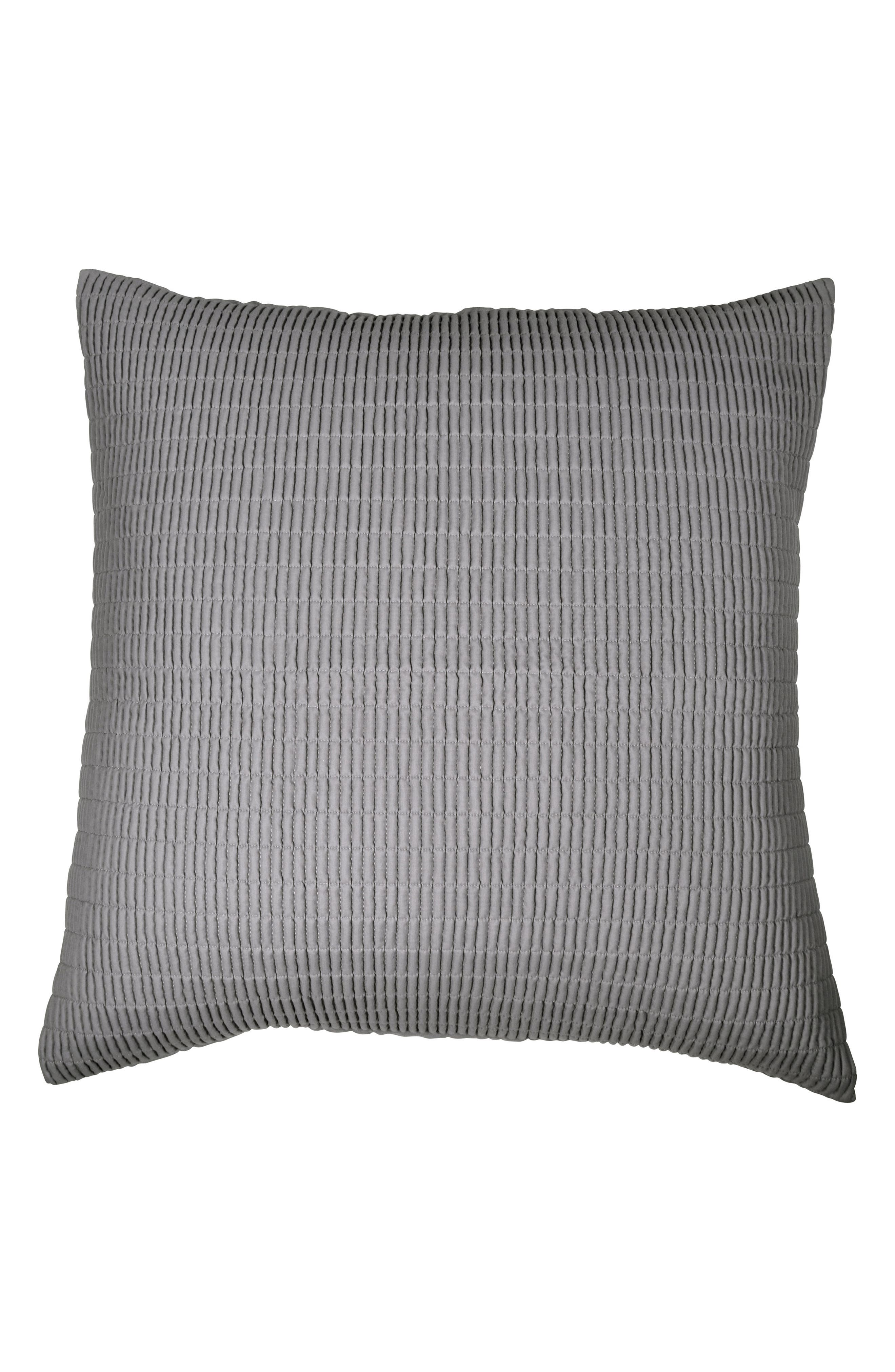DKNY Quilted Sham, Main, color, GREY