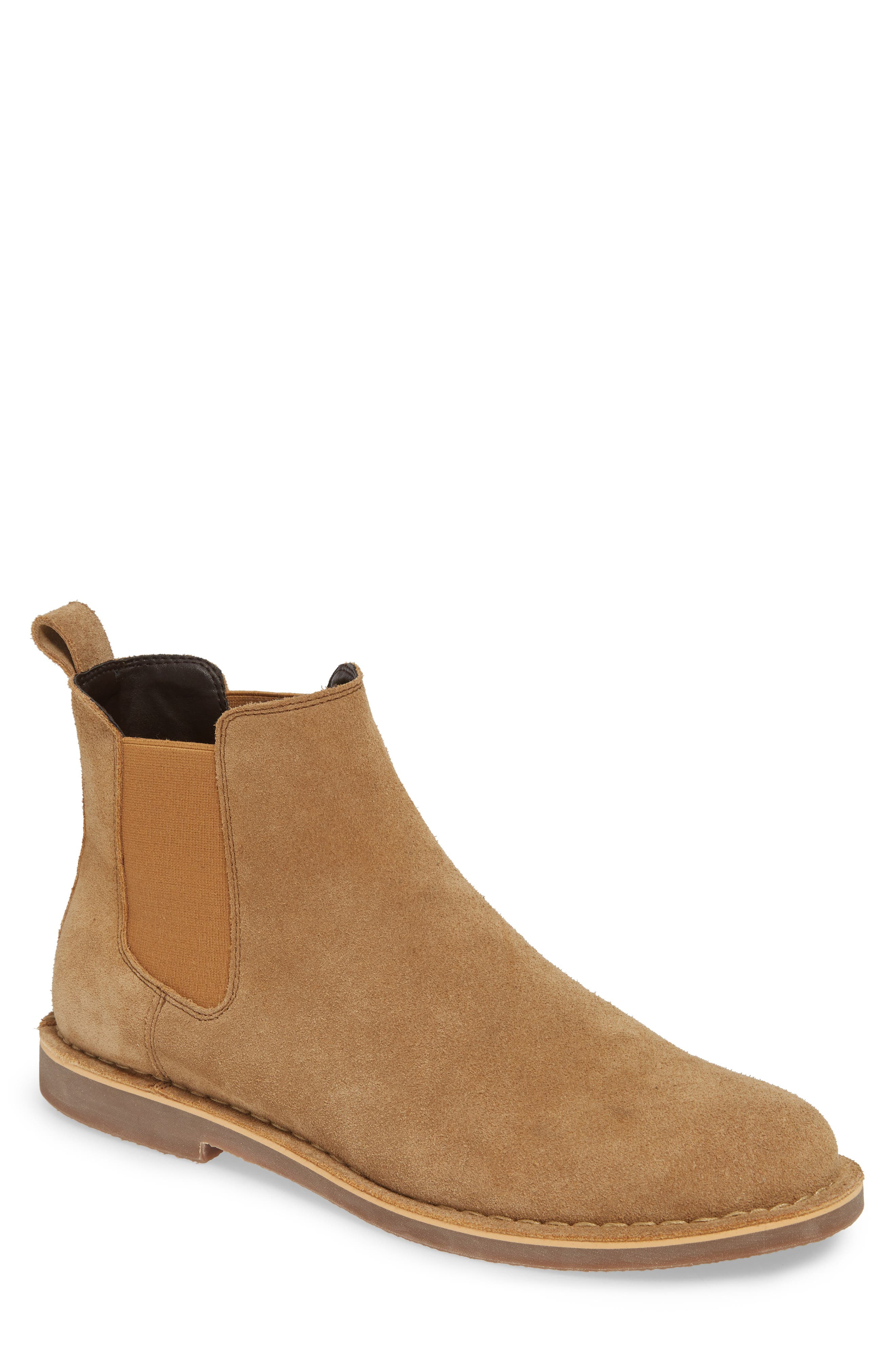 THE RAIL Payson Chelsea Boot, Main, color, SAND SUEDE