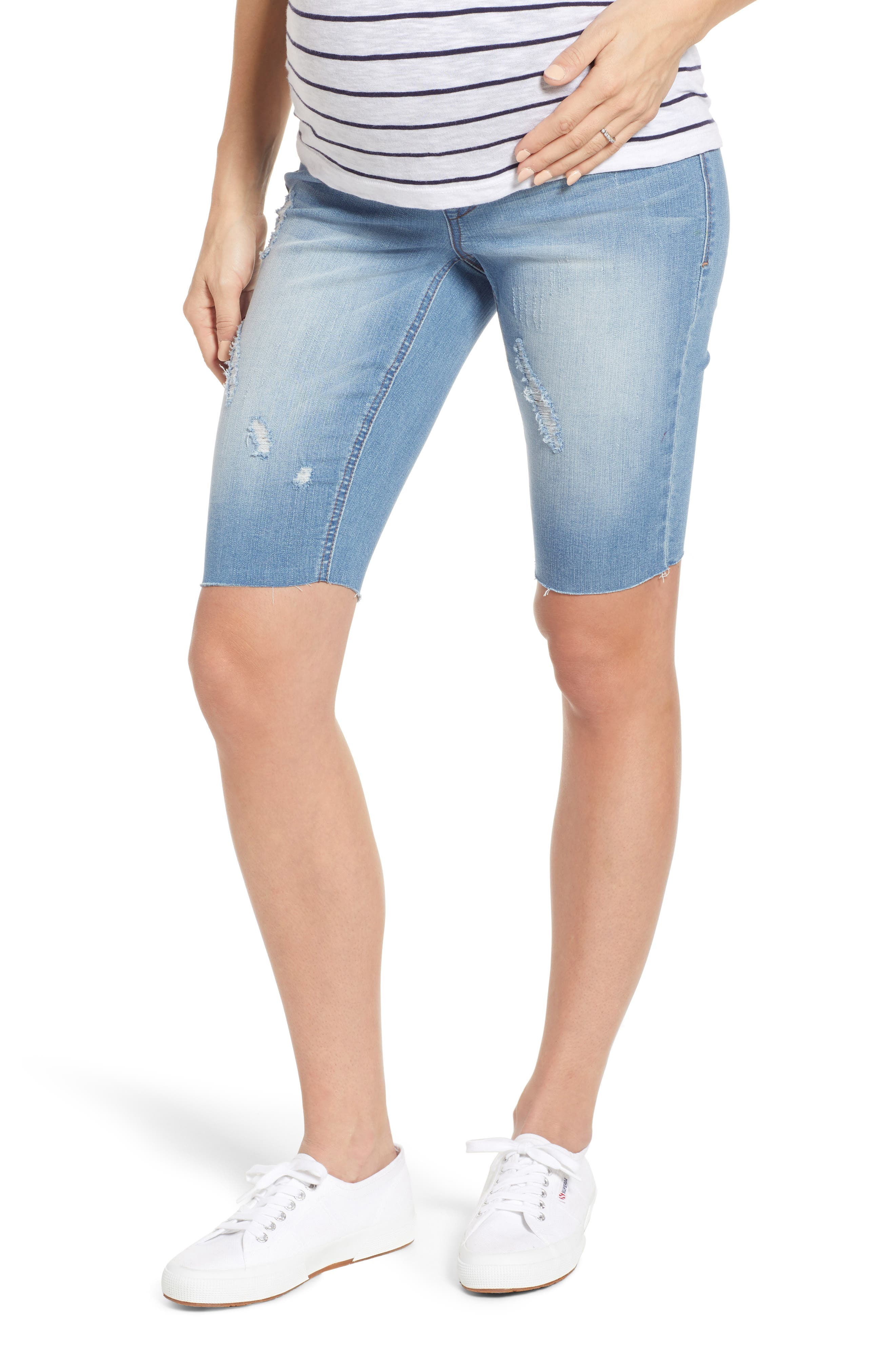 Women's 1822 Denim Maternity Biker Shorts