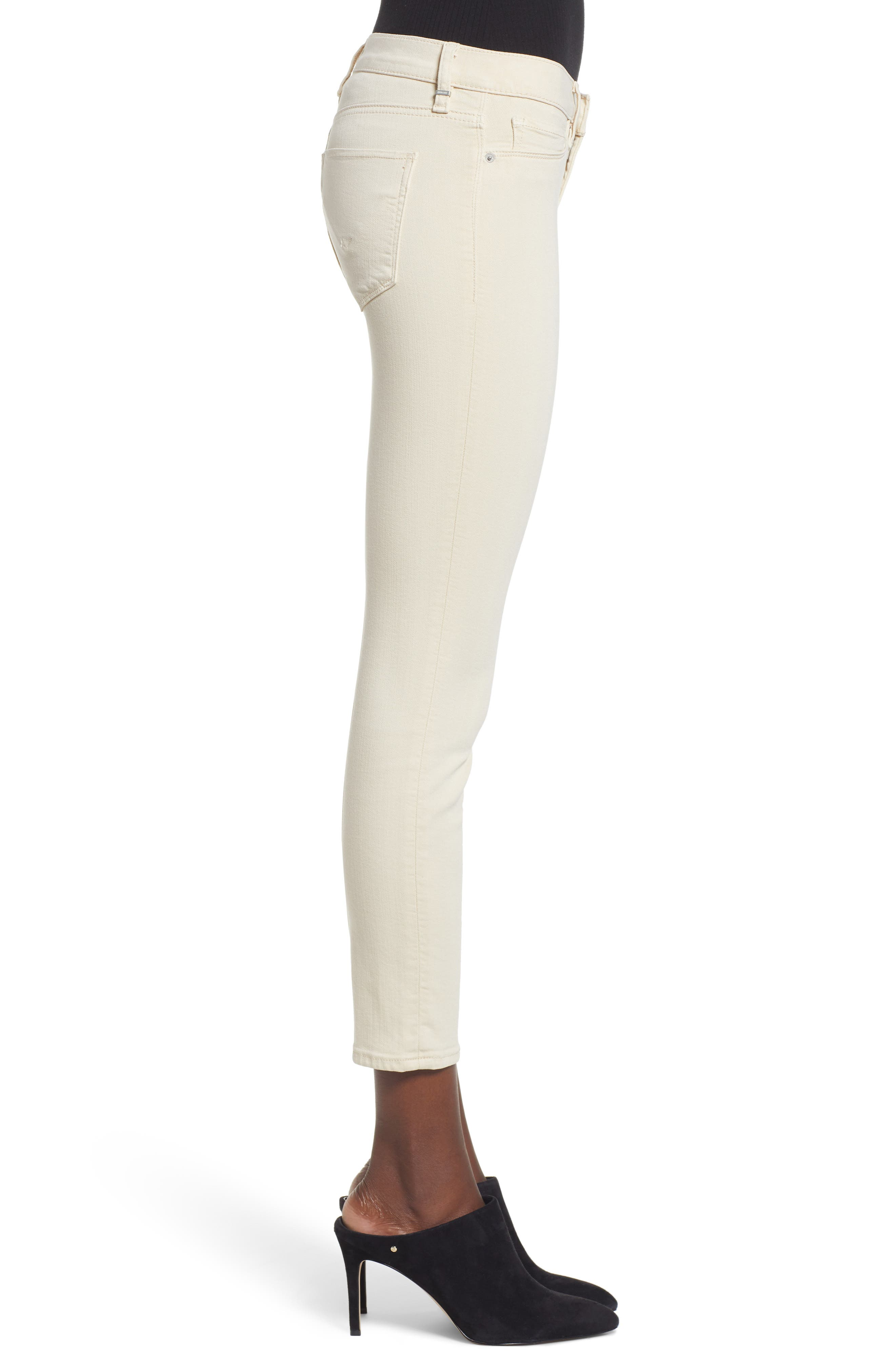 HUDSON JEANS, Tally Ankle Skinny Jeans, Alternate thumbnail 4, color, FAWN