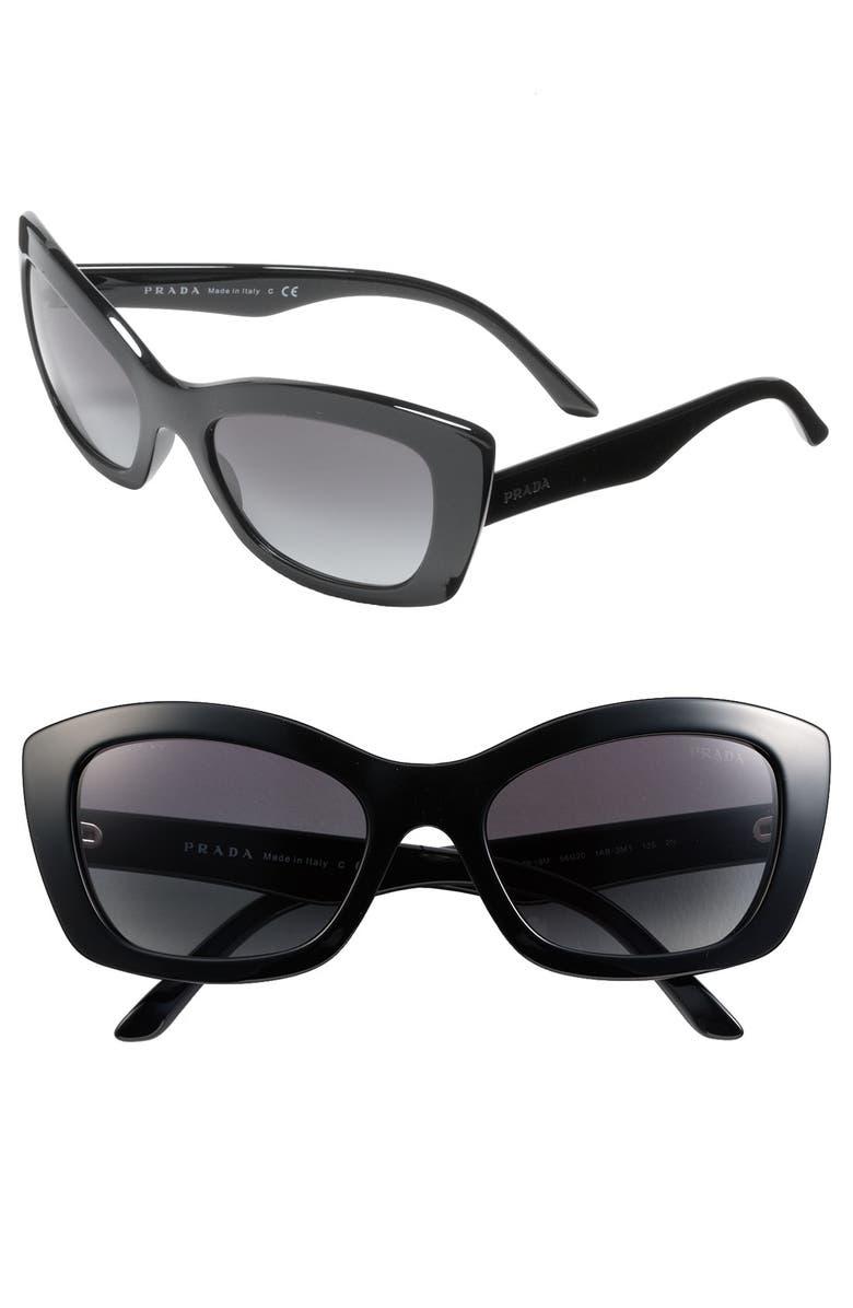 448d38d7a008 Prada Rectangular Cat s Eye Sunglasses