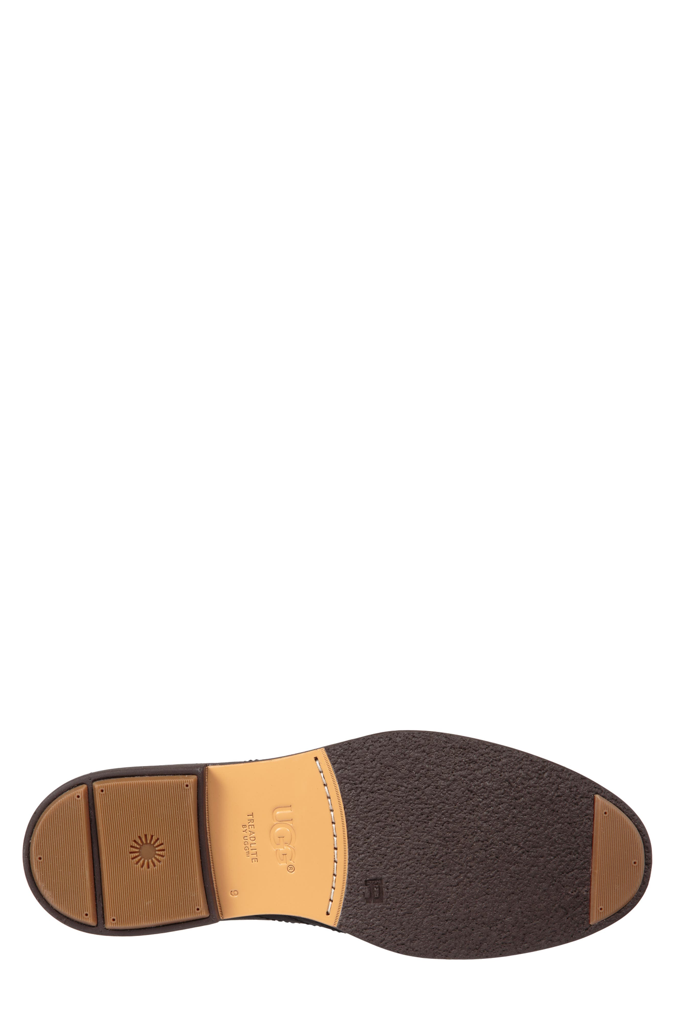 UGG<SUP>®</SUP>, Australia Dagmann Chukka Boot, Alternate thumbnail 5, color, BLACK LEATHER/SUEDE