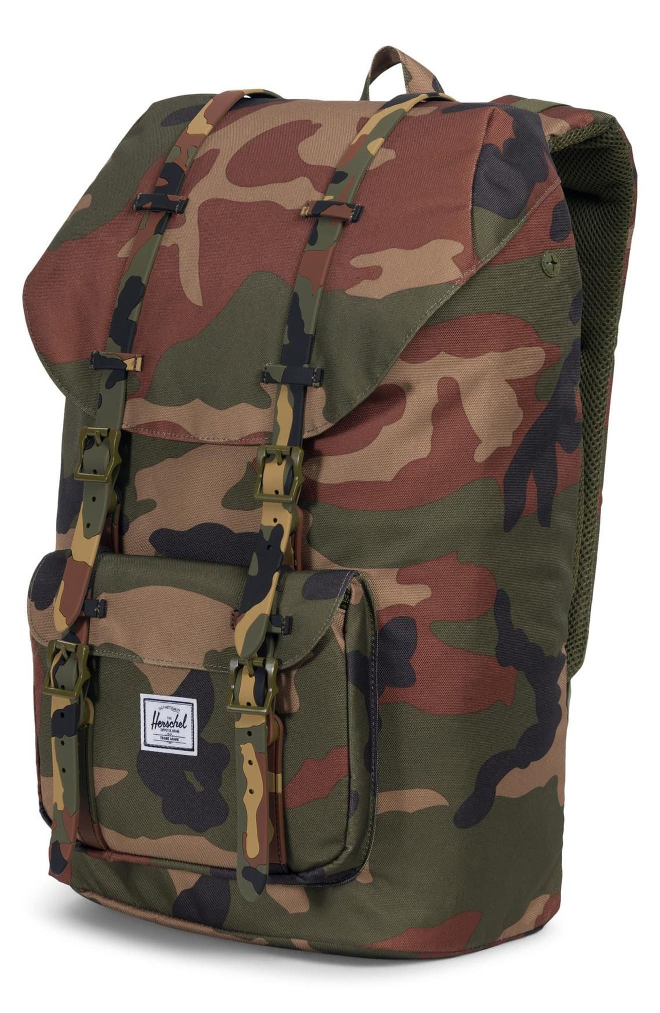 HERSCHEL SUPPLY CO., Little America Backpack, Alternate thumbnail 5, color, WOODLAND CAMO