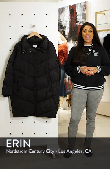 for J.Crew Chevron Long Puffer Coat, sales video thumbnail