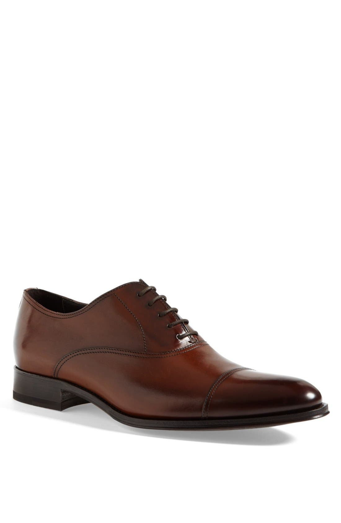 To Boot New York Brandon Cap Toe Oxford, Brown