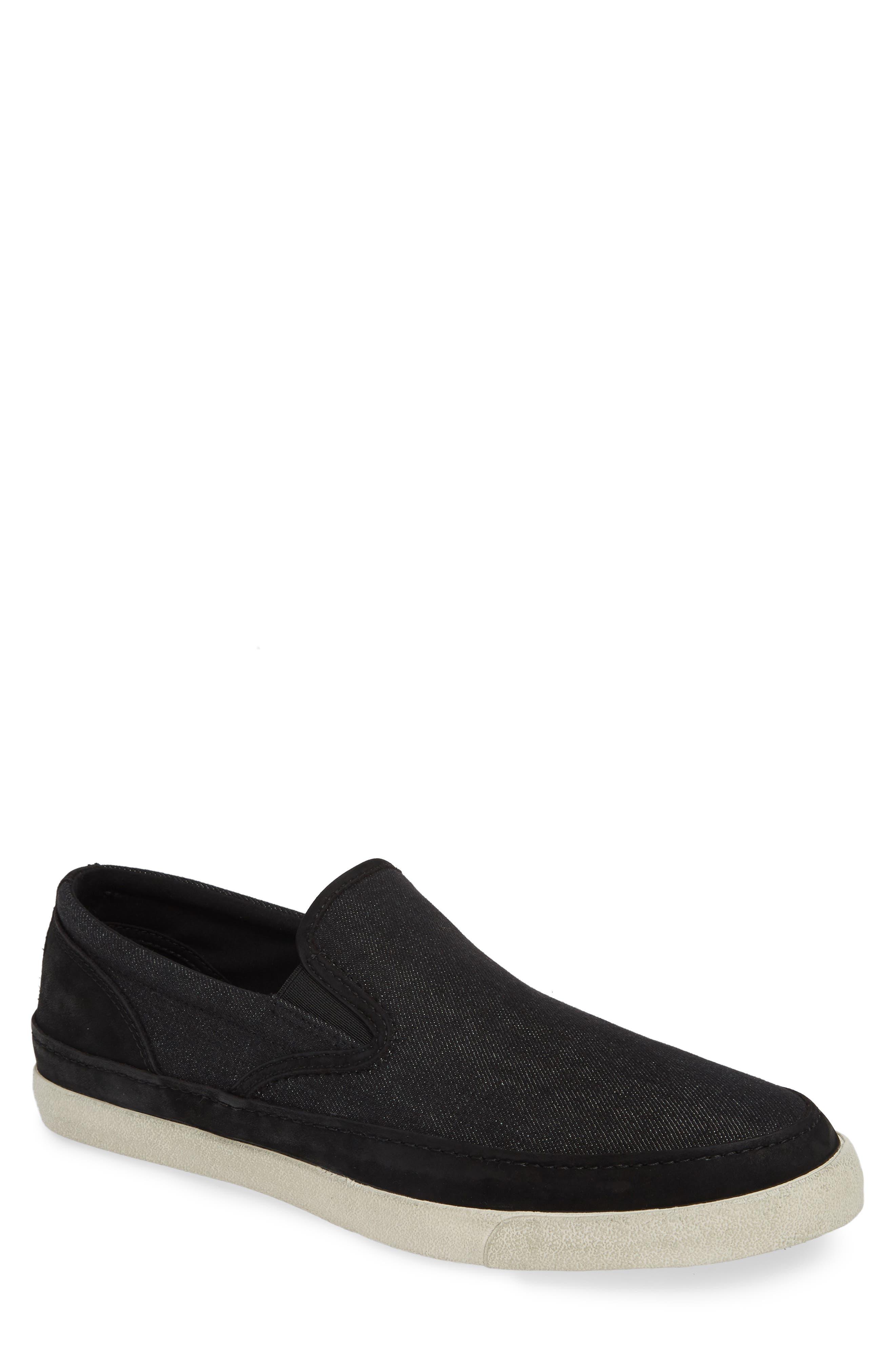 JOHN VARVATOS STAR USA Jet Canvas Slip-On Sneaker, Main, color, MINERAL BLK