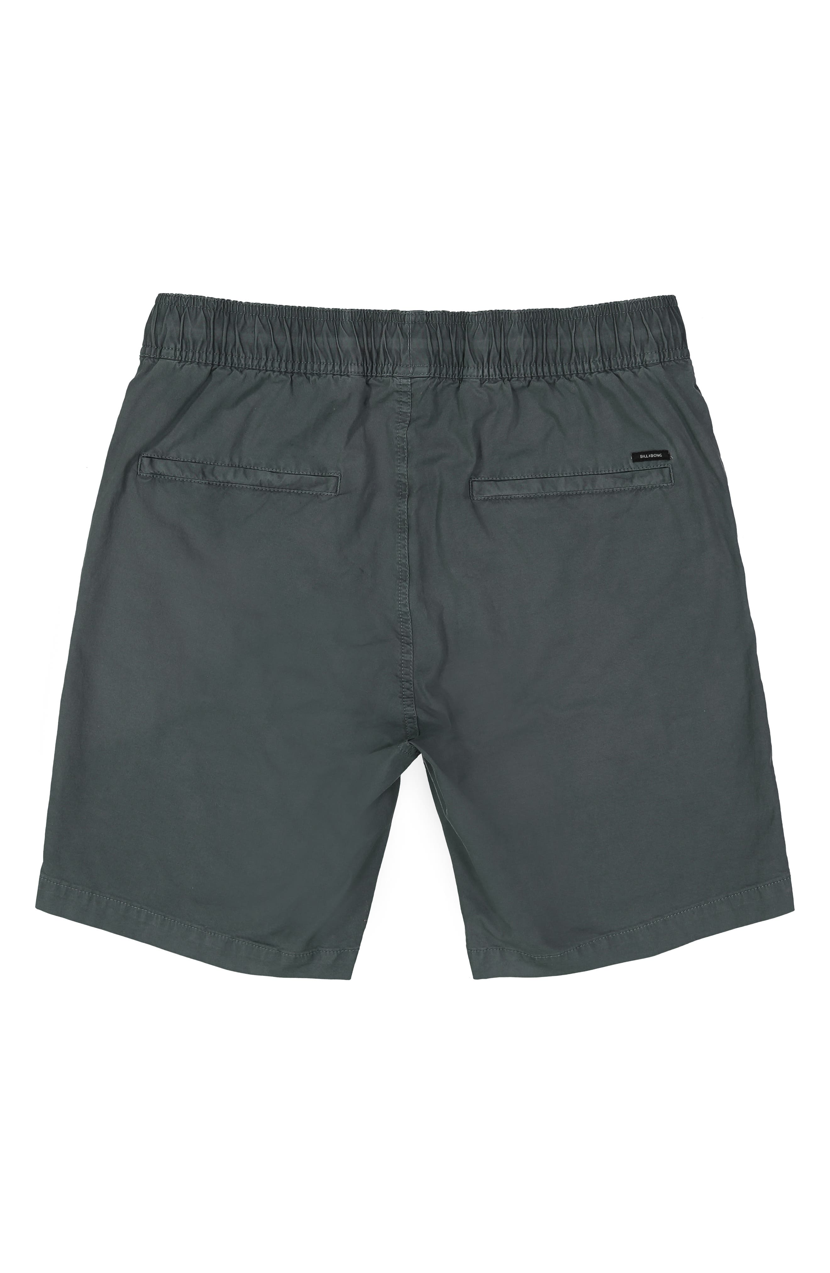 BILLABONG, Larry Layback Stretch Cotton Shorts, Alternate thumbnail 2, color, WASHED SLATE