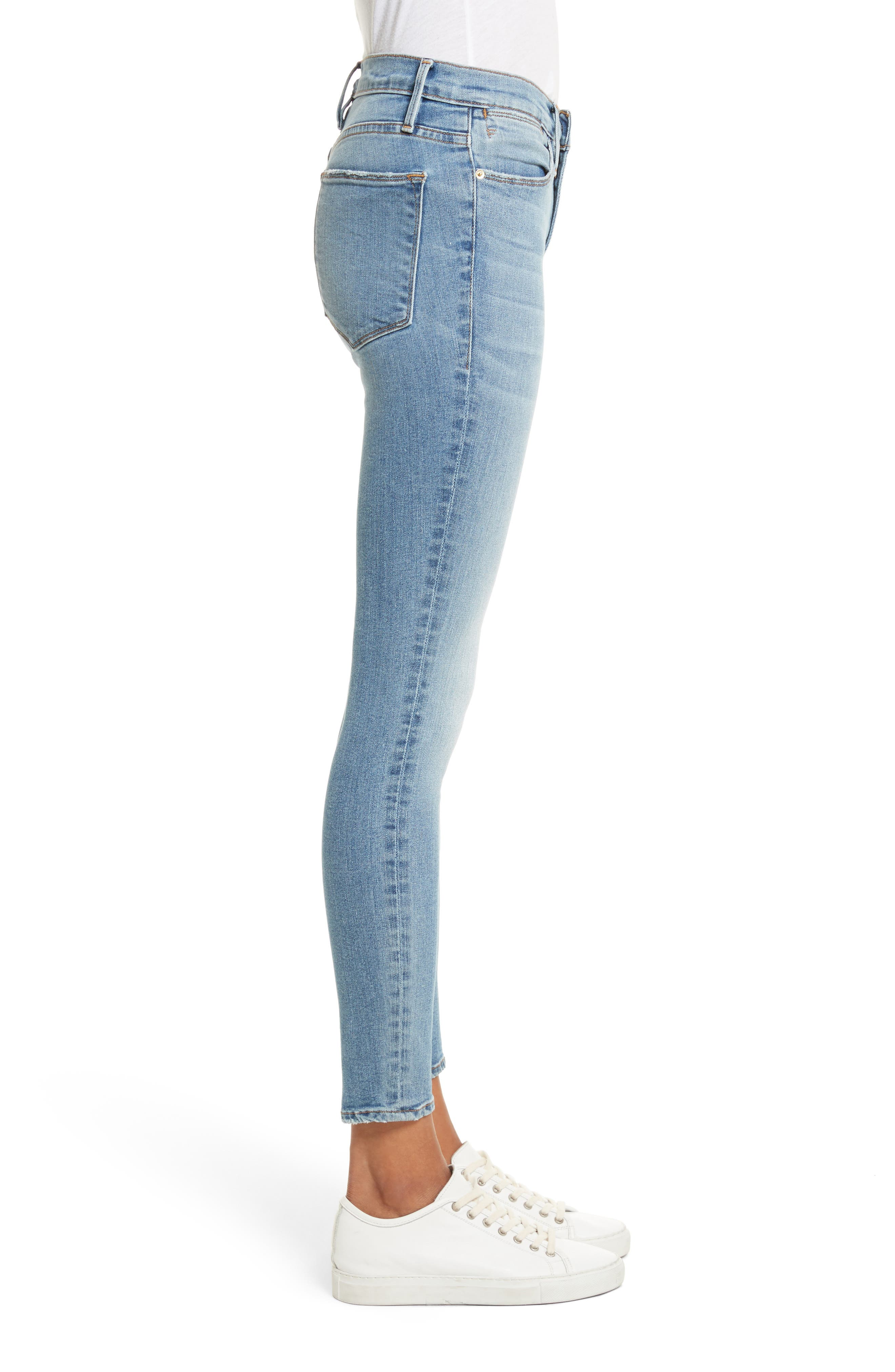 FRAME, Le High Crop Skinny Jeans, Alternate thumbnail 4, color, LOEHR