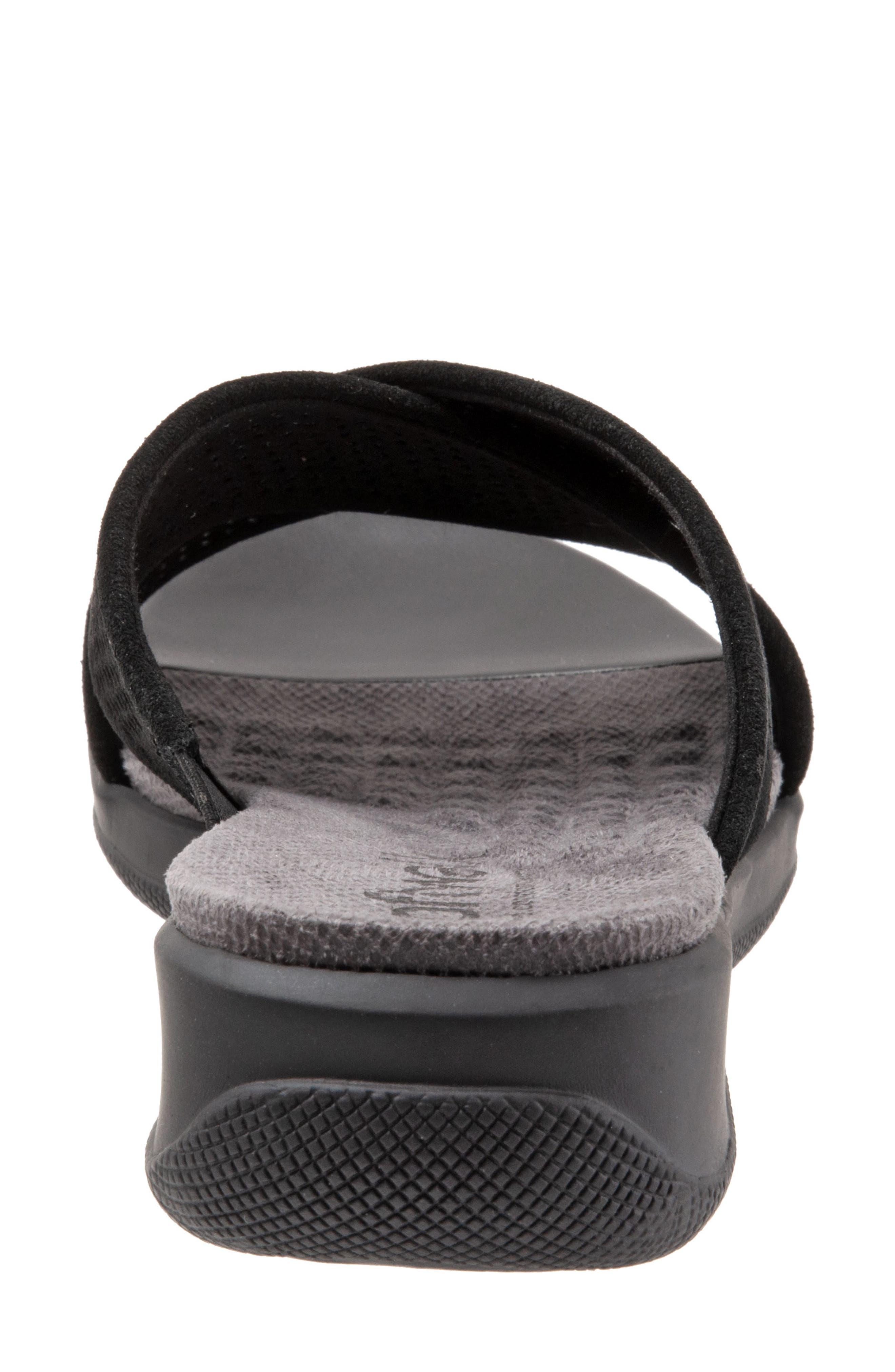 SOFTWALK<SUP>®</SUP>, 'Tillman' Leather Cross Strap Slide Sandal, Alternate thumbnail 7, color, 002