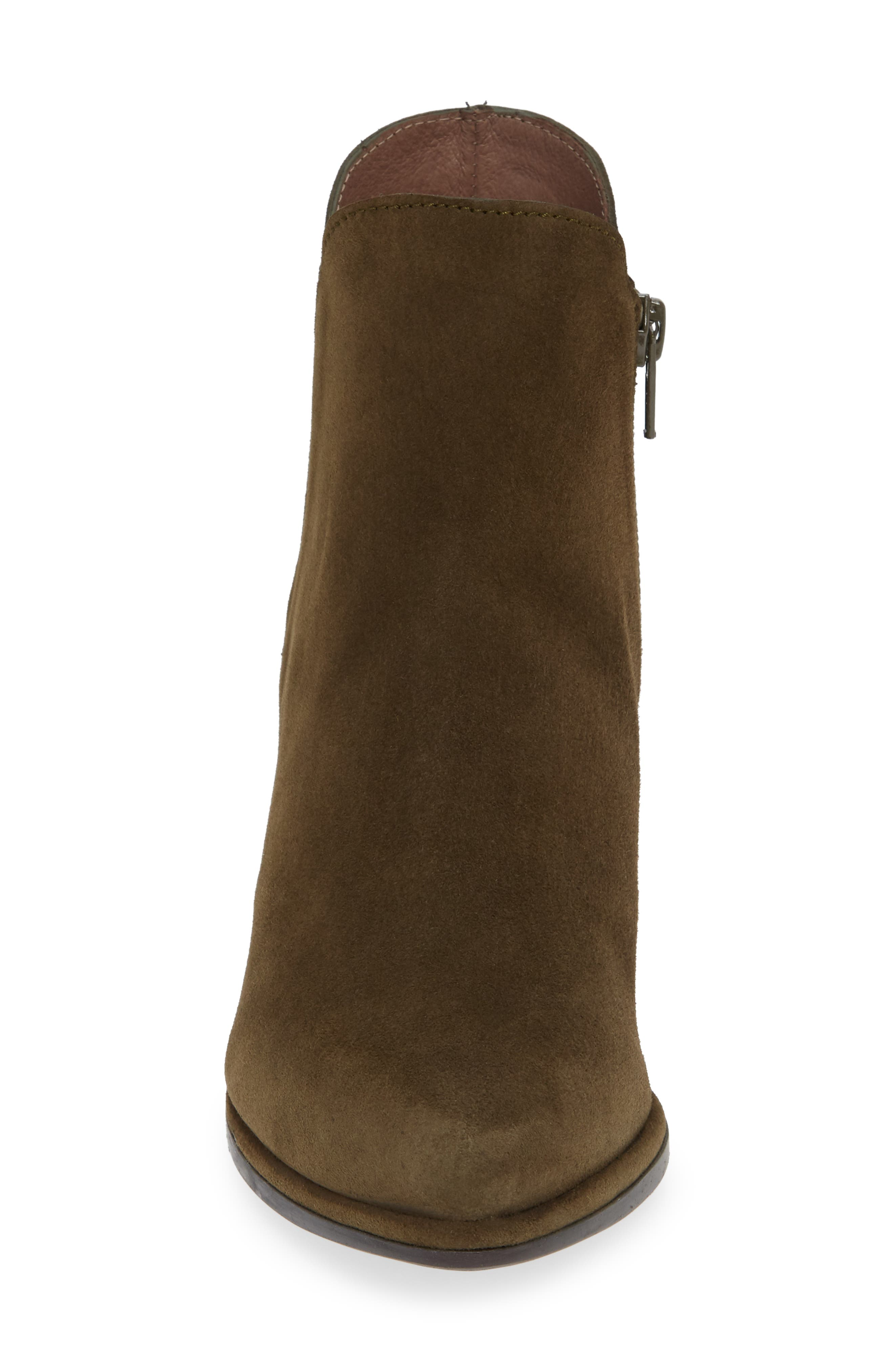 WONDERS, Chelsea Boot, Alternate thumbnail 4, color, MILITARY GREEN SUEDE