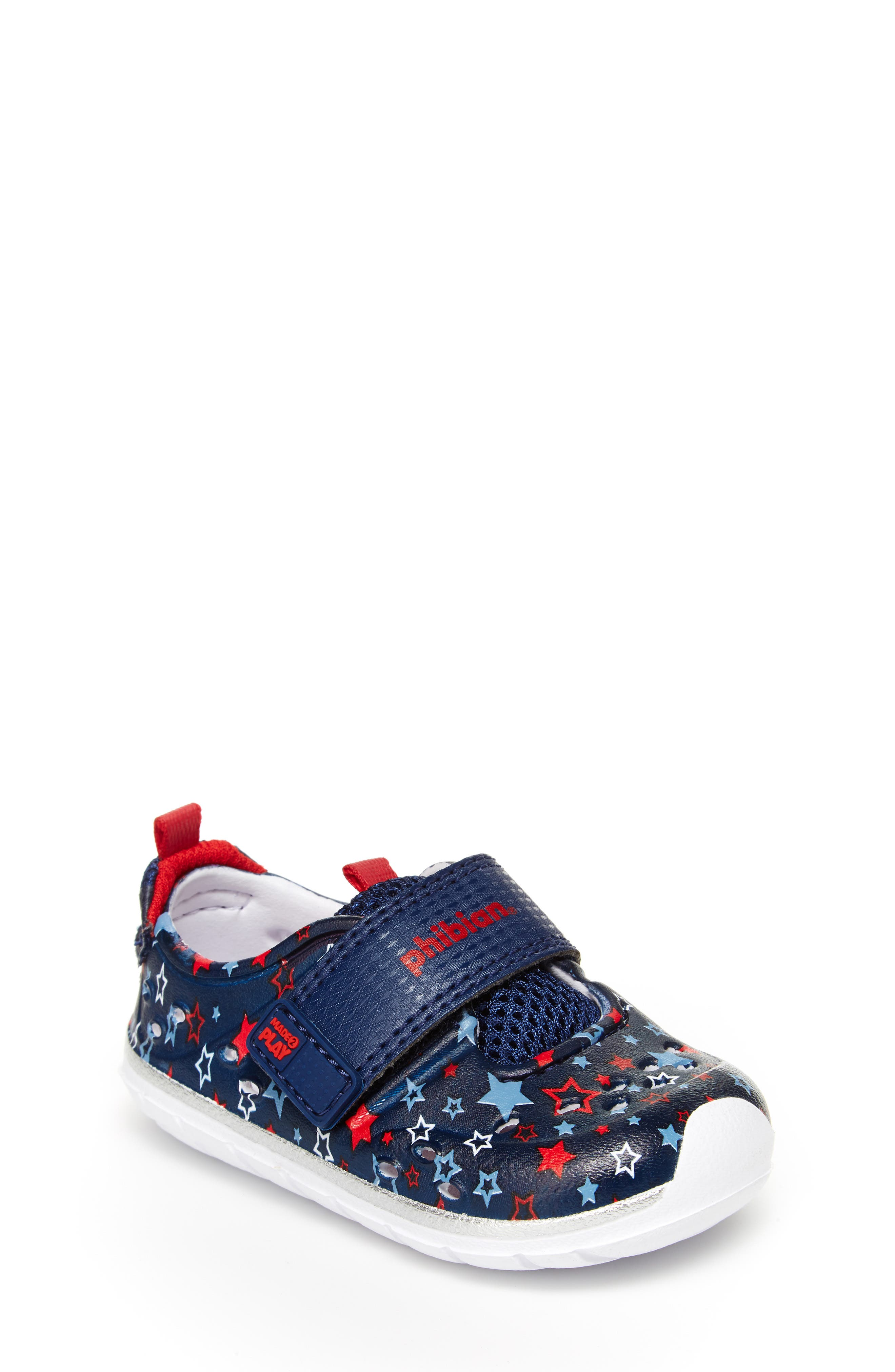 STRIDE RITE Made2Play<sup>®</sup> Phibian Sneaker, Main, color, NAVY STAR