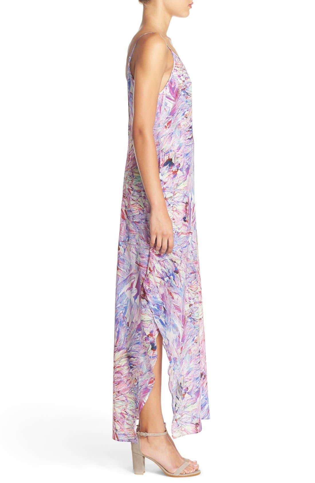 CHARLIE JADE, Print Silk Maxi Dress, Alternate thumbnail 5, color, 675