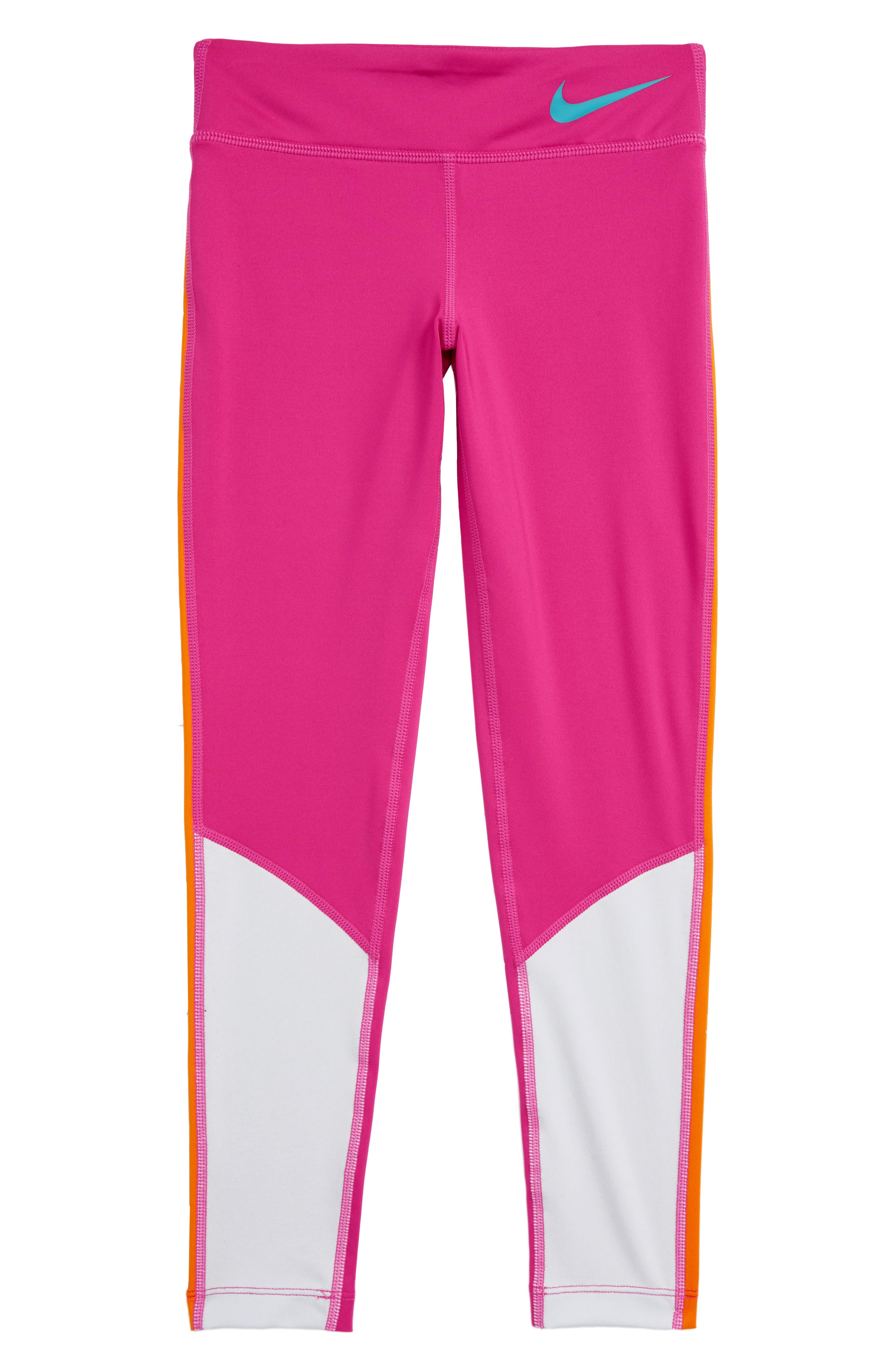 Girls Nike Dry Trophy Colorblock Tights