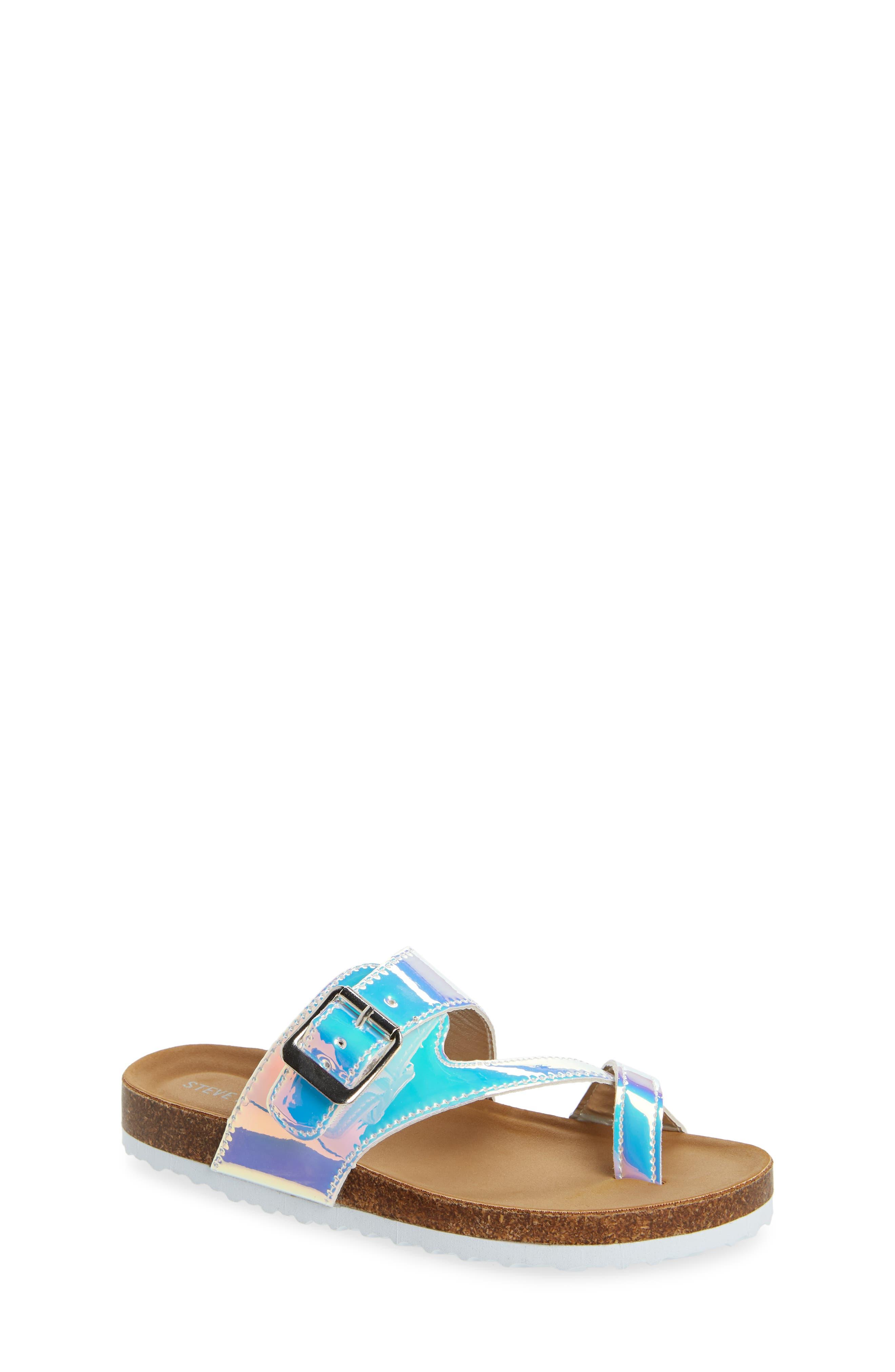 STEVE MADDEN JWaive Sandal, Main, color, IRIDESCENT