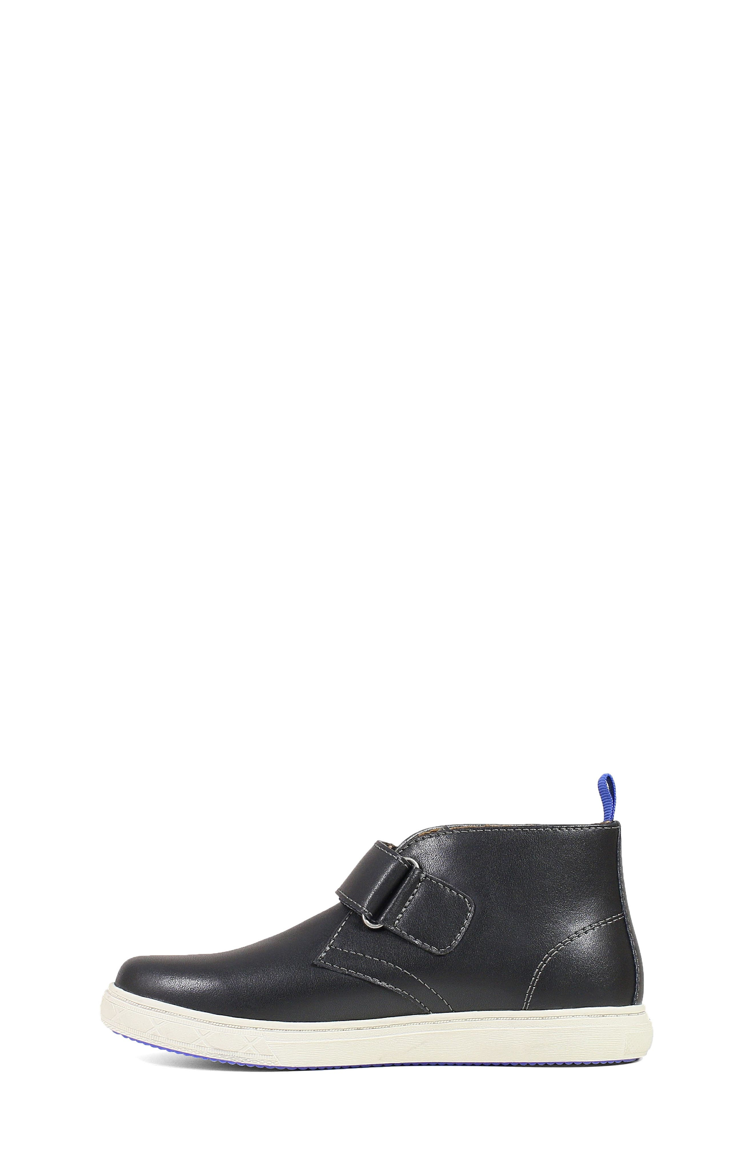 FLORSHEIM, Curb Chukka Boot, Alternate thumbnail 3, color, BLACK LEATHER