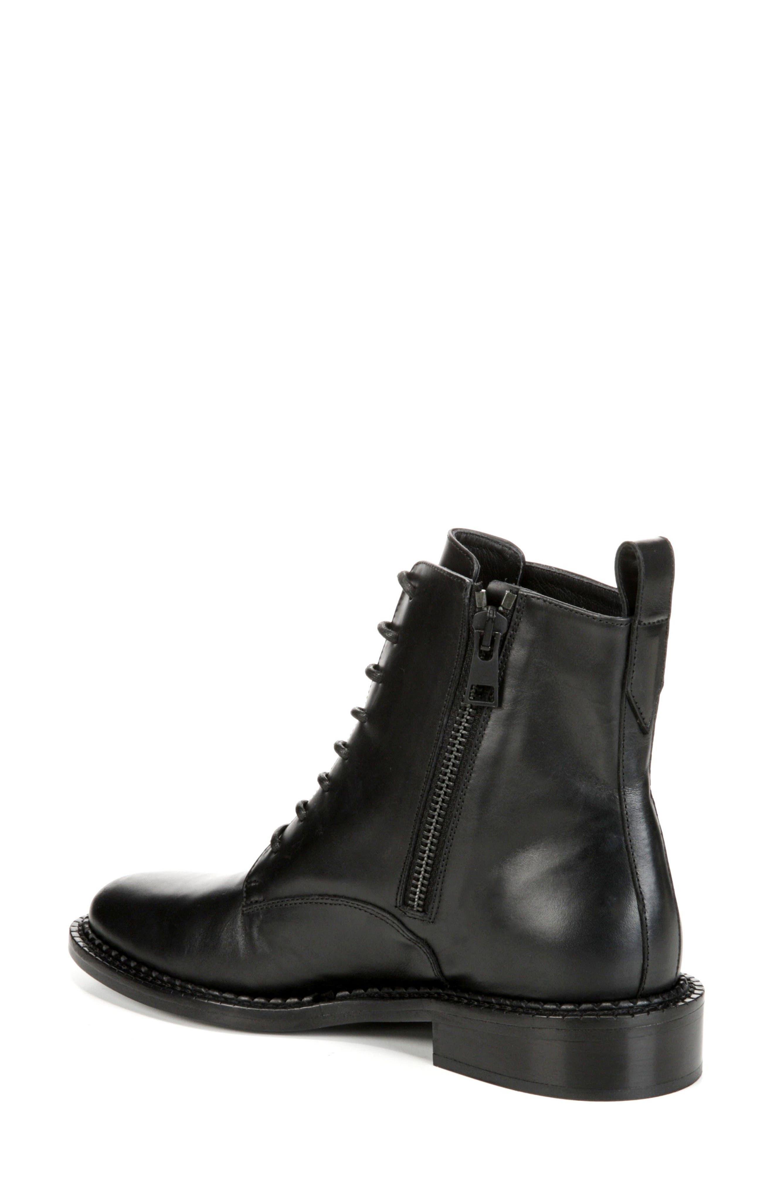 VINCE, Cabria Lace-Up Boot, Alternate thumbnail 2, color, BLACK