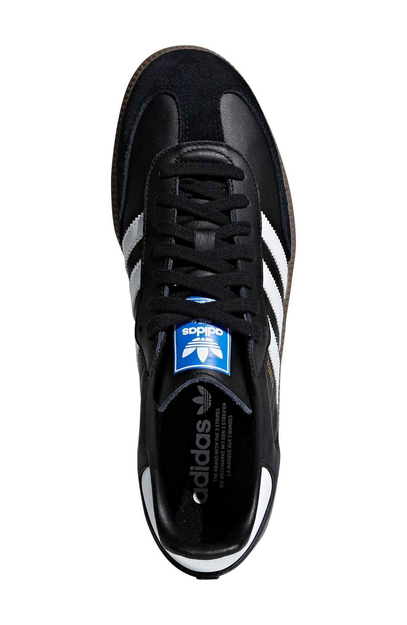 ADIDAS, Samba OG Sneaker, Alternate thumbnail 2, color, BLACK/ WHITE/ GUM