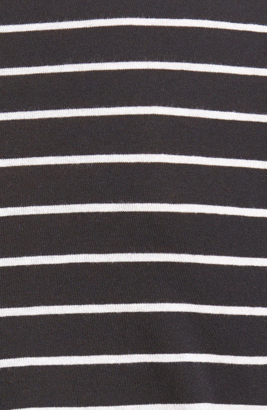 BP., Stripe High/Low Tee, Alternate thumbnail 5, color, 001