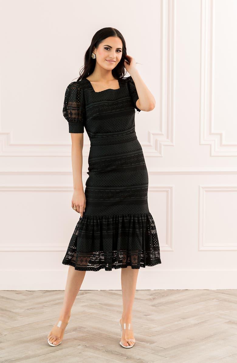 Rachel Parcell Square Neck Lace Dress (Nordstrom Exclusive) | Nordstrom
