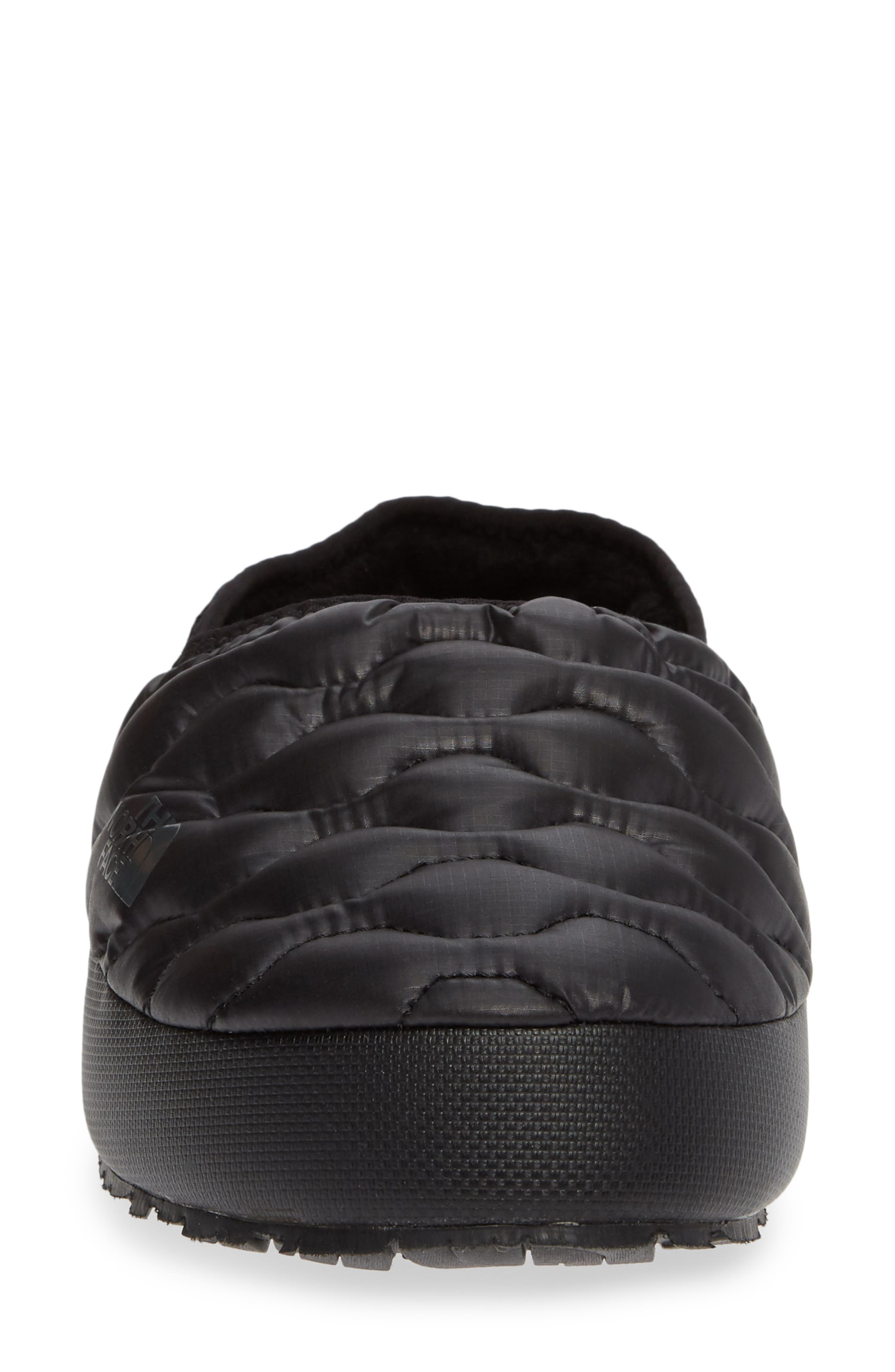 THE NORTH FACE, Thermoball<sup>™</sup> Water Resistant Traction Mule, Alternate thumbnail 4, color, SHINY BLACK/ BELUGA GREY