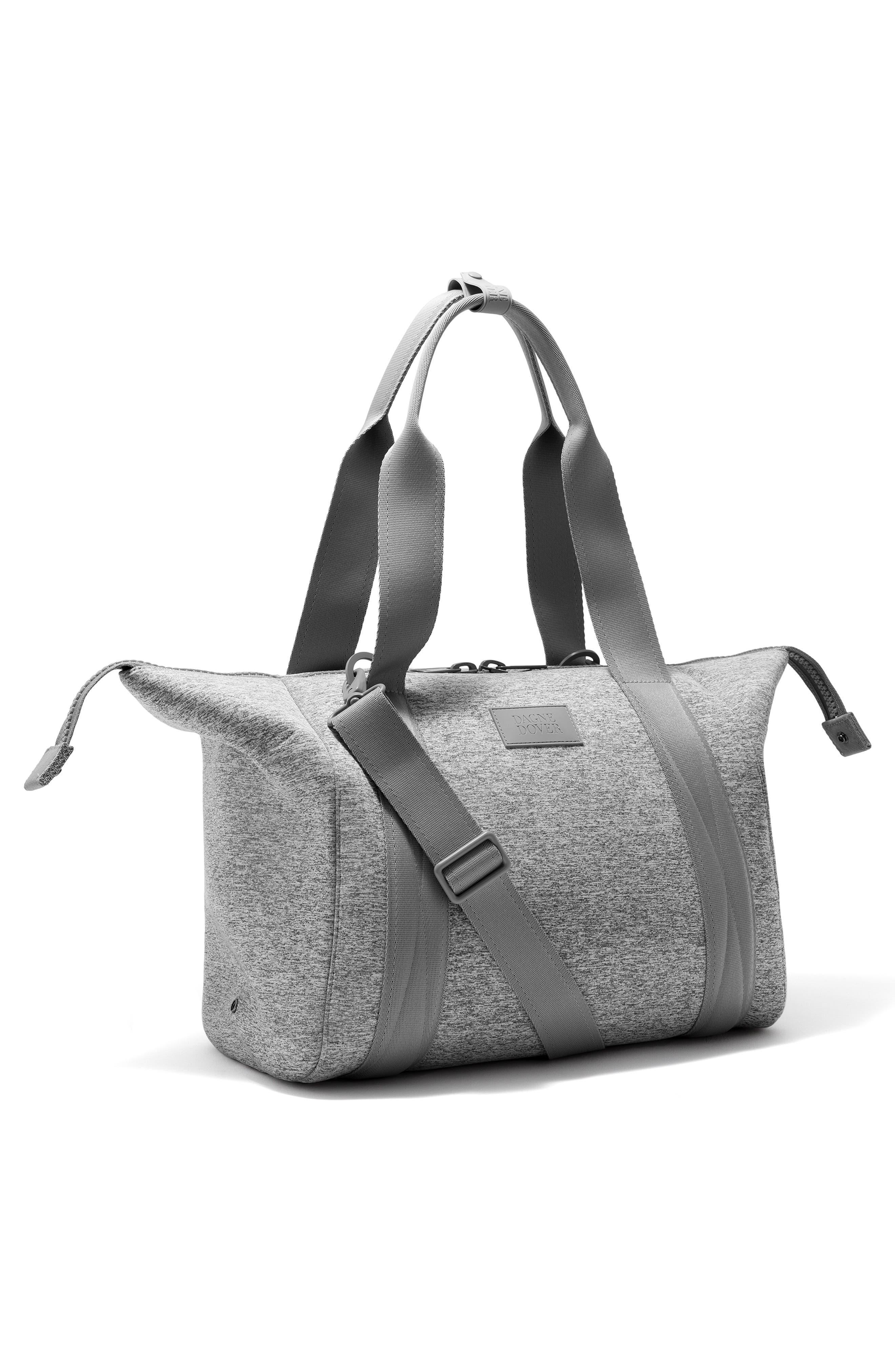 DAGNE DOVER, 365 Medium Landon Neoprene Carryall Duffle Bag, Alternate thumbnail 4, color, HEATHER GREY