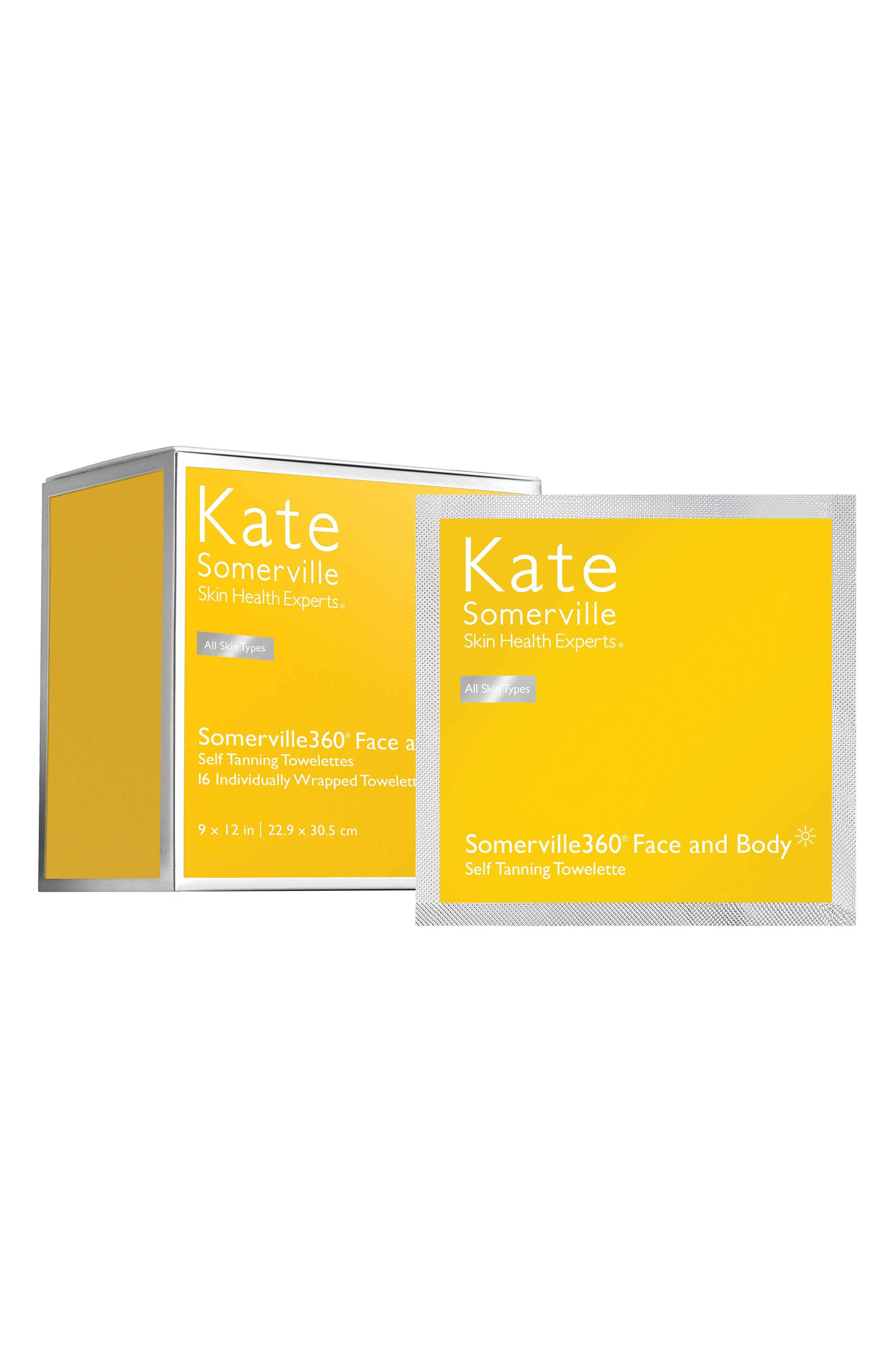 KATE SOMERVILLE<SUP>®</SUP>, 'Somerville360°' Tanning Towelettes, Alternate thumbnail 2, color, NO COLOR
