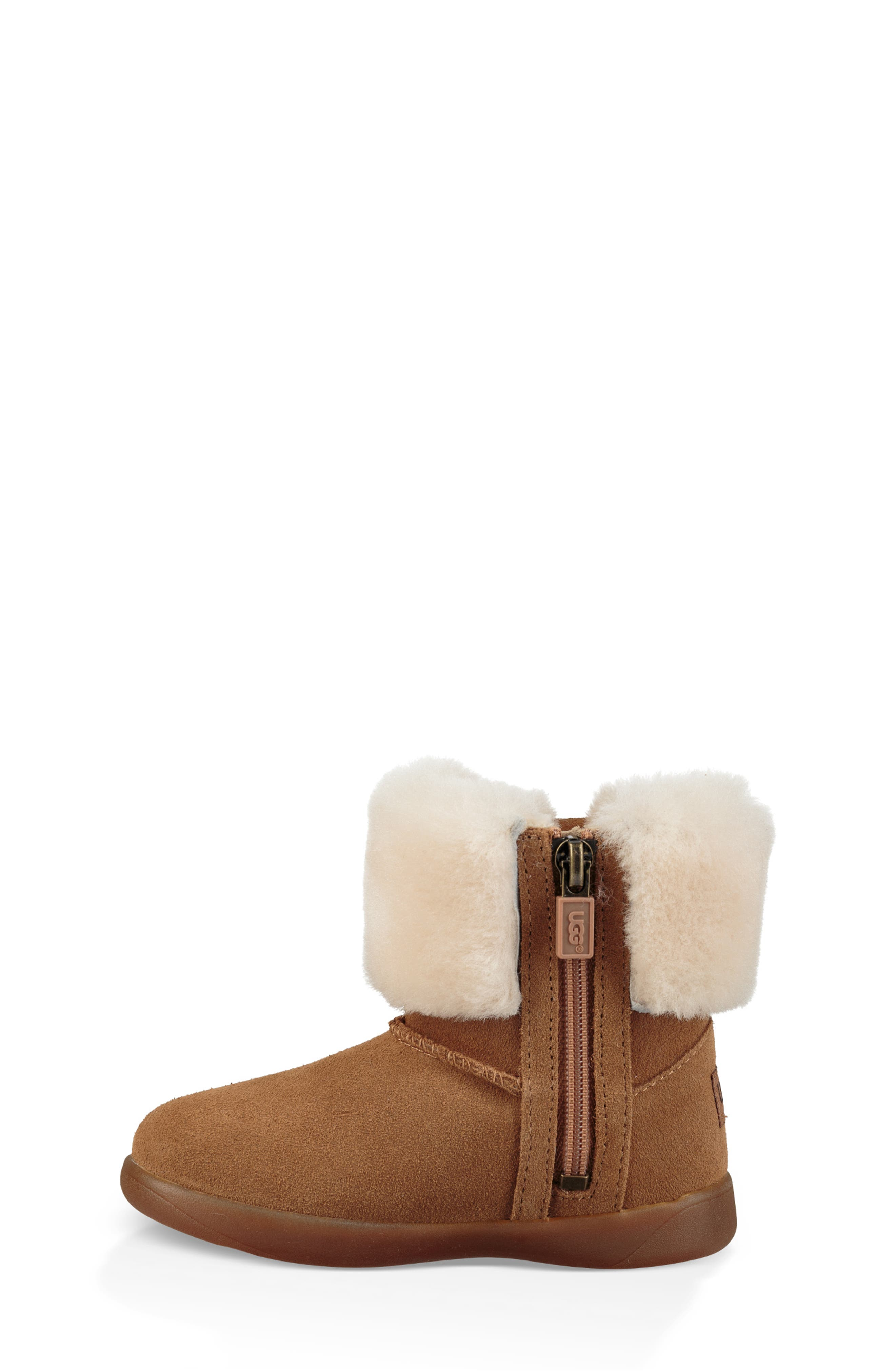 UGG<SUP>®</SUP>, Ramona Classic Short Boot, Alternate thumbnail 6, color, CHESTNUT