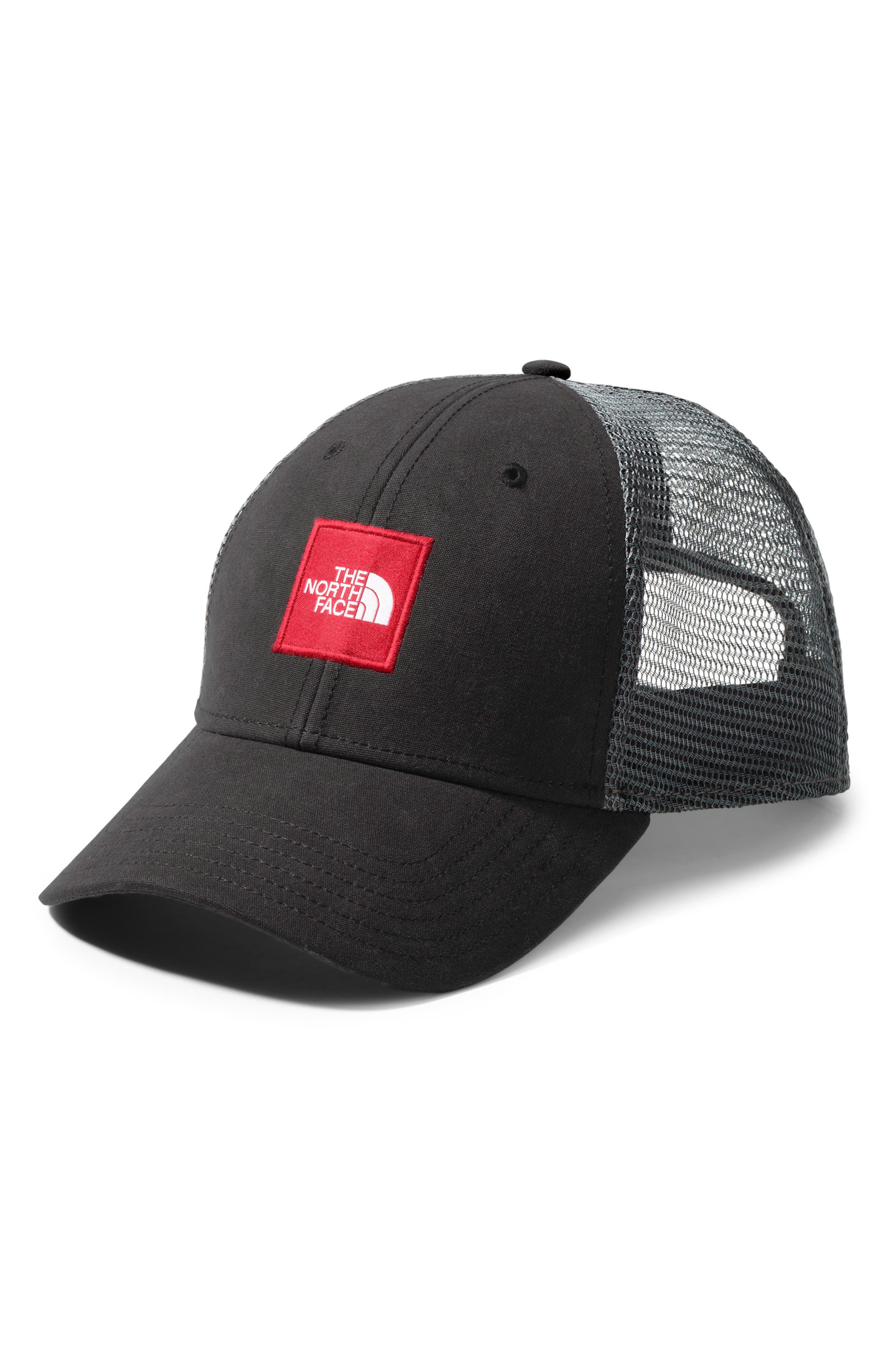 THE NORTH FACE Box Logo Trucker Hat, Main, color, TNF BLACK