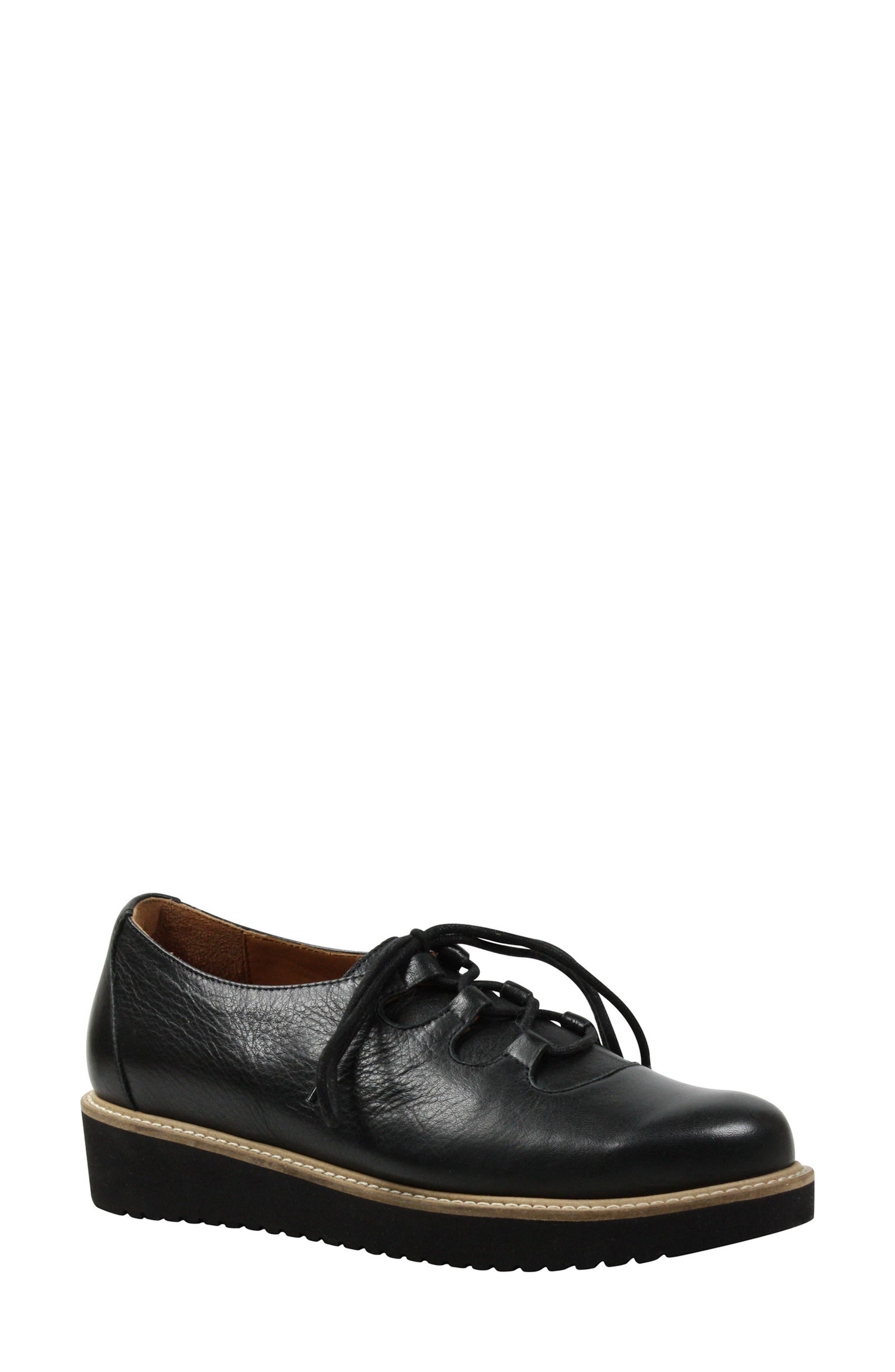 L'AMOUR DES PIEDS, Ximena Loafer, Main thumbnail 1, color, BLACK LEATHER
