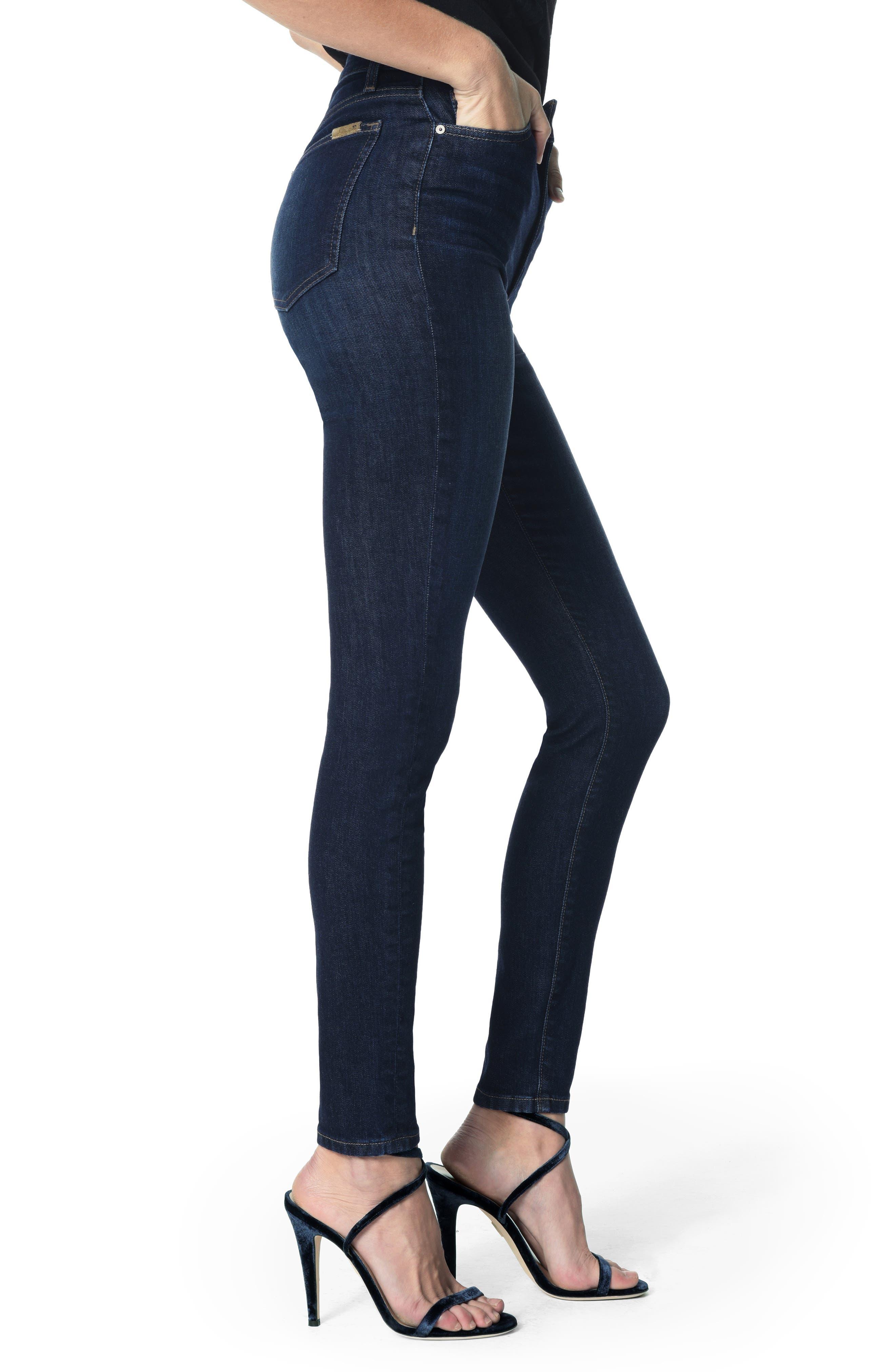JOE'S, Charlie High Waist Skinny Jeans, Alternate thumbnail 3, color, KEELY