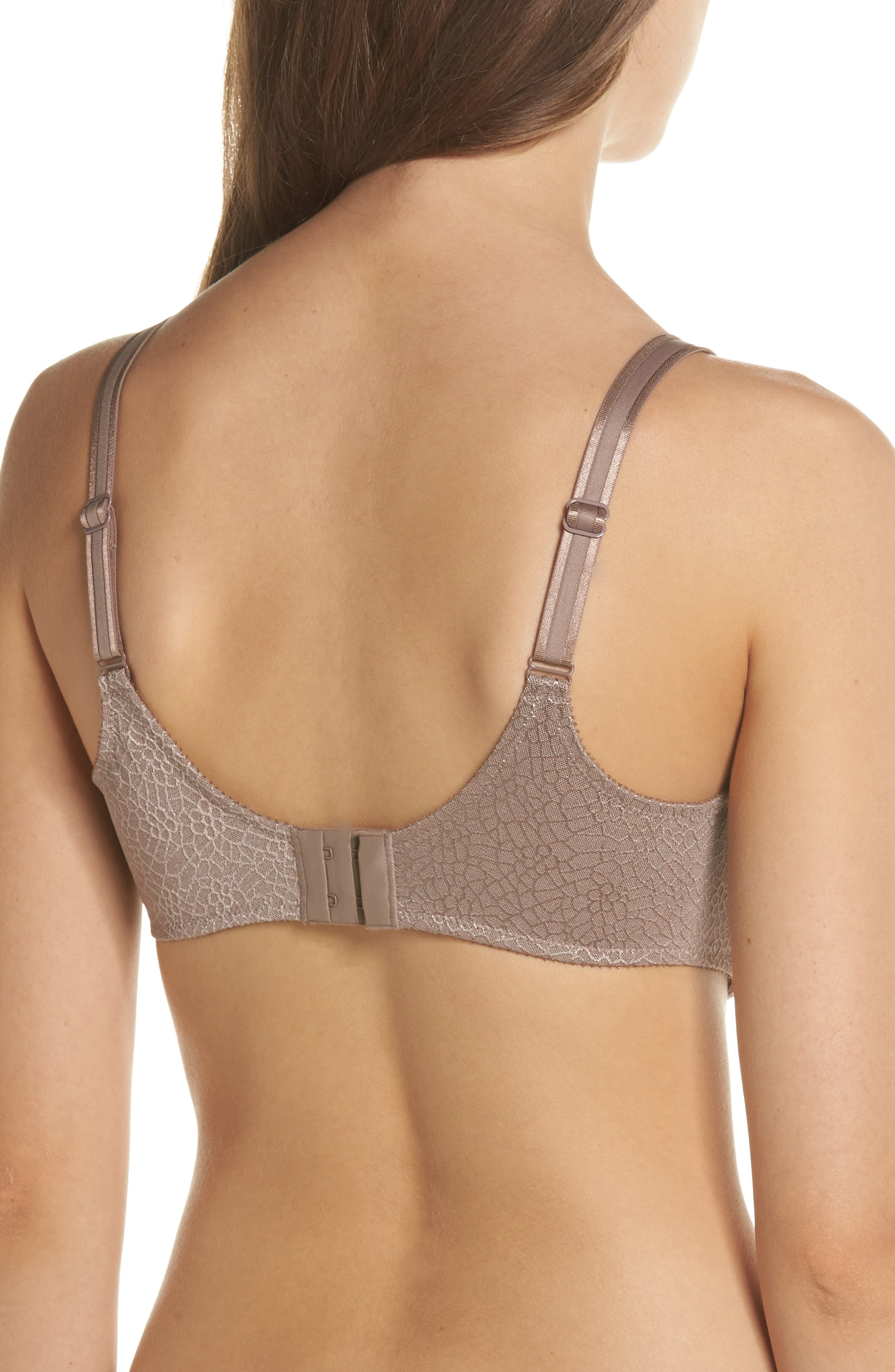 CHANTELLE LINGERIE, C Magnifique Underwire Minimizer Bra, Alternate thumbnail 2, color, HAZELNUT