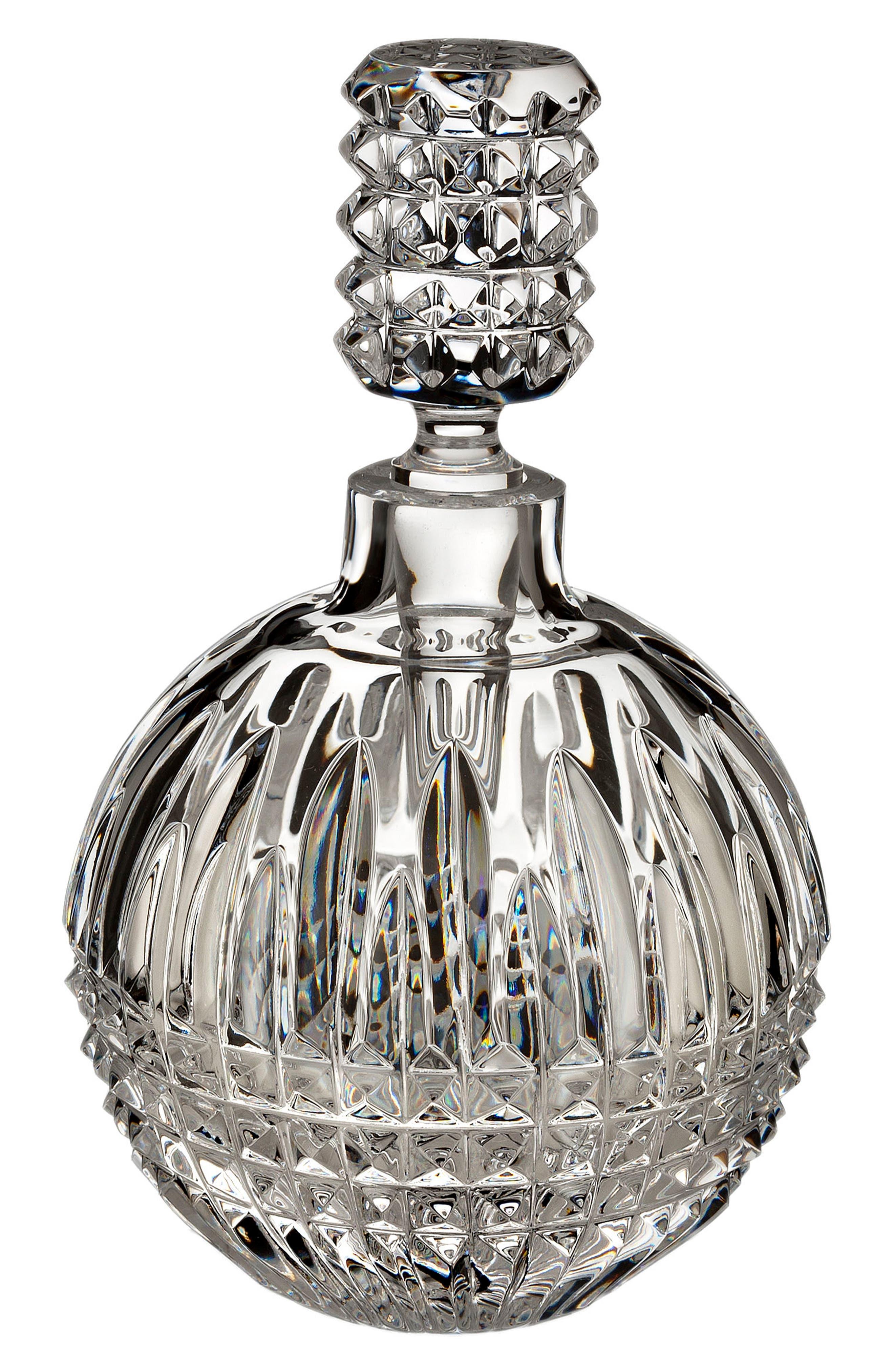 WATERFORD, Lismore Diamond Perfume Bottle, Main thumbnail 1, color, CRYSTAL