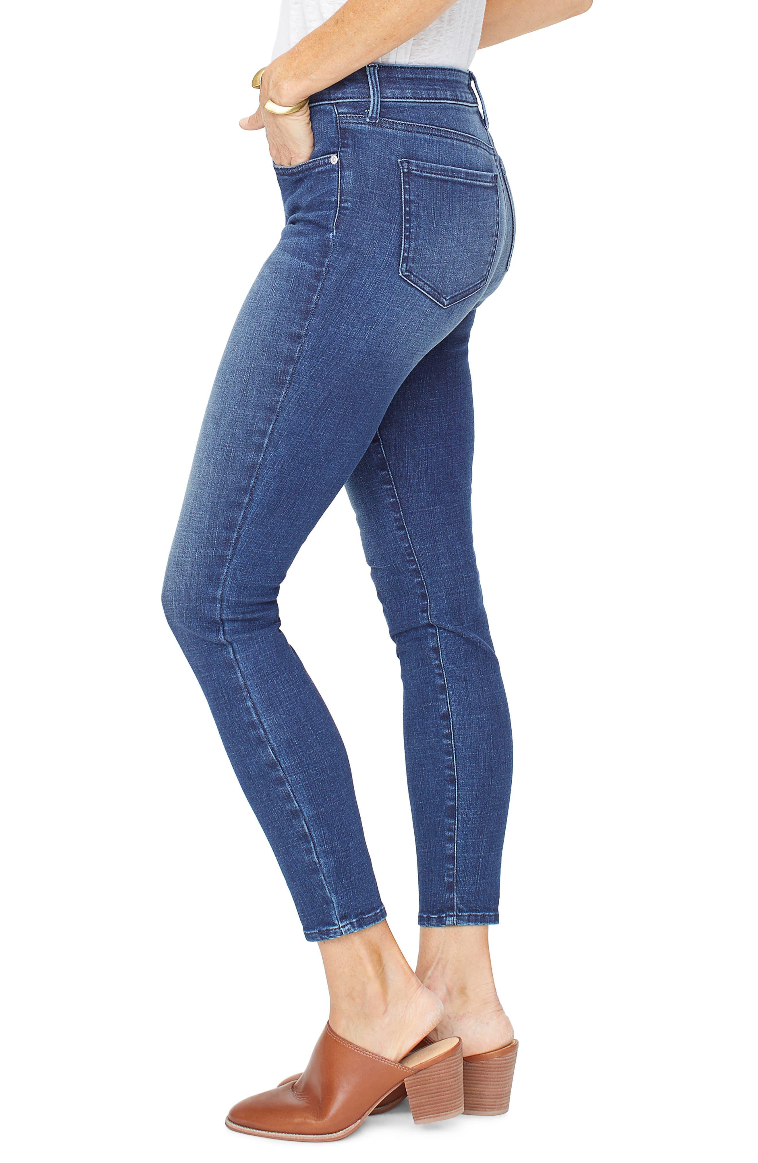 NYDJ, Ami Ankle Skinny Jeans, Alternate thumbnail 4, color, REGO