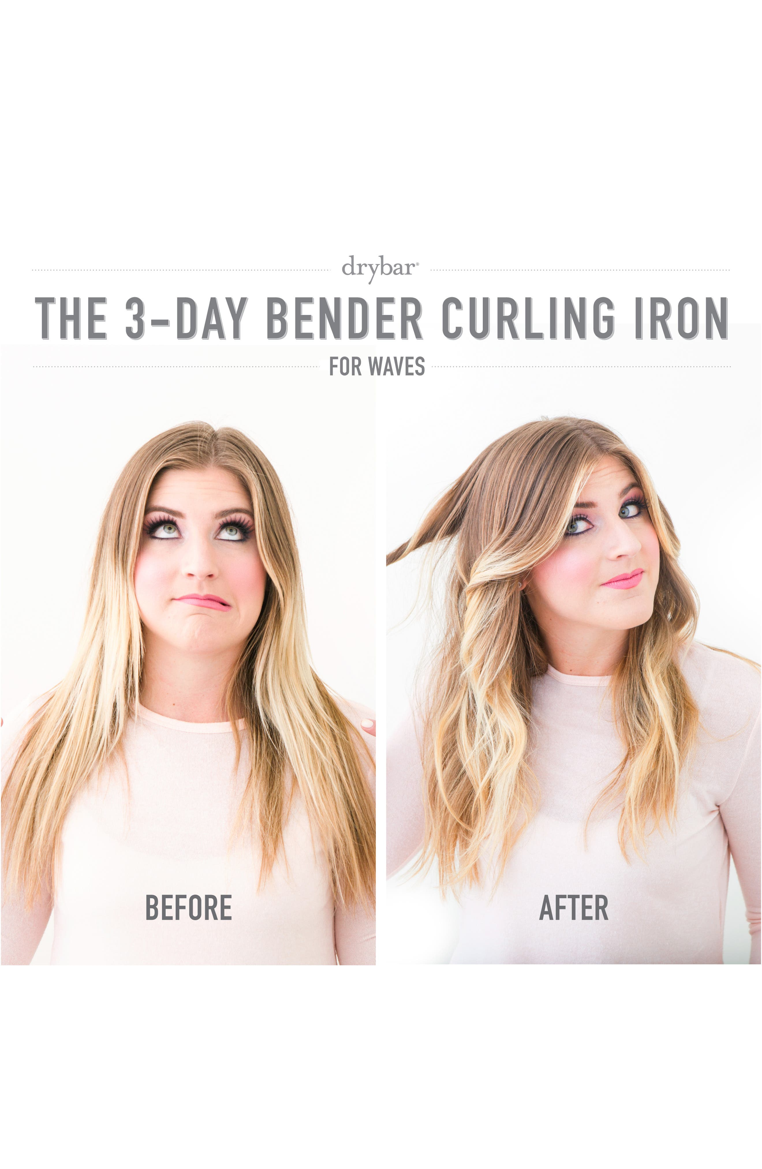 DRYBAR, 3-Day Bender 1.25 Inch Rotating Curling Iron, Alternate thumbnail 4, color, NO COLOR