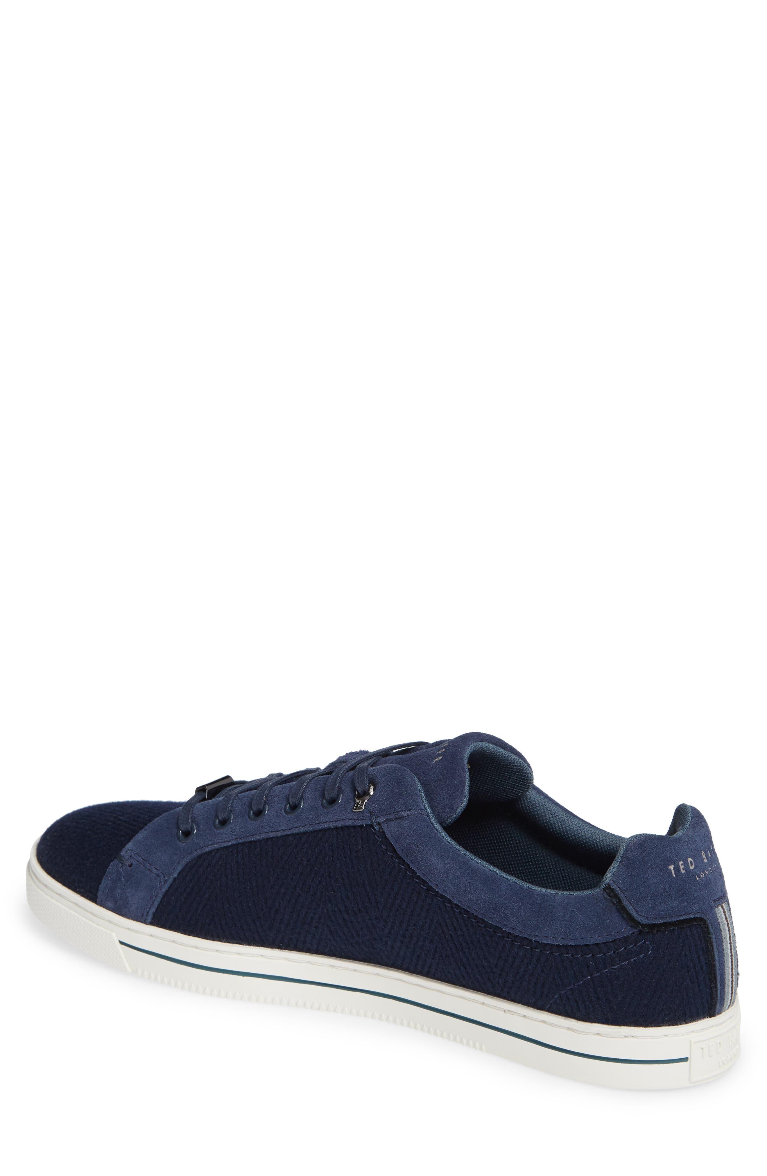 TED BAKER LONDON, Werill Sneaker, Alternate thumbnail 2, color, DARK BLUE WOOL