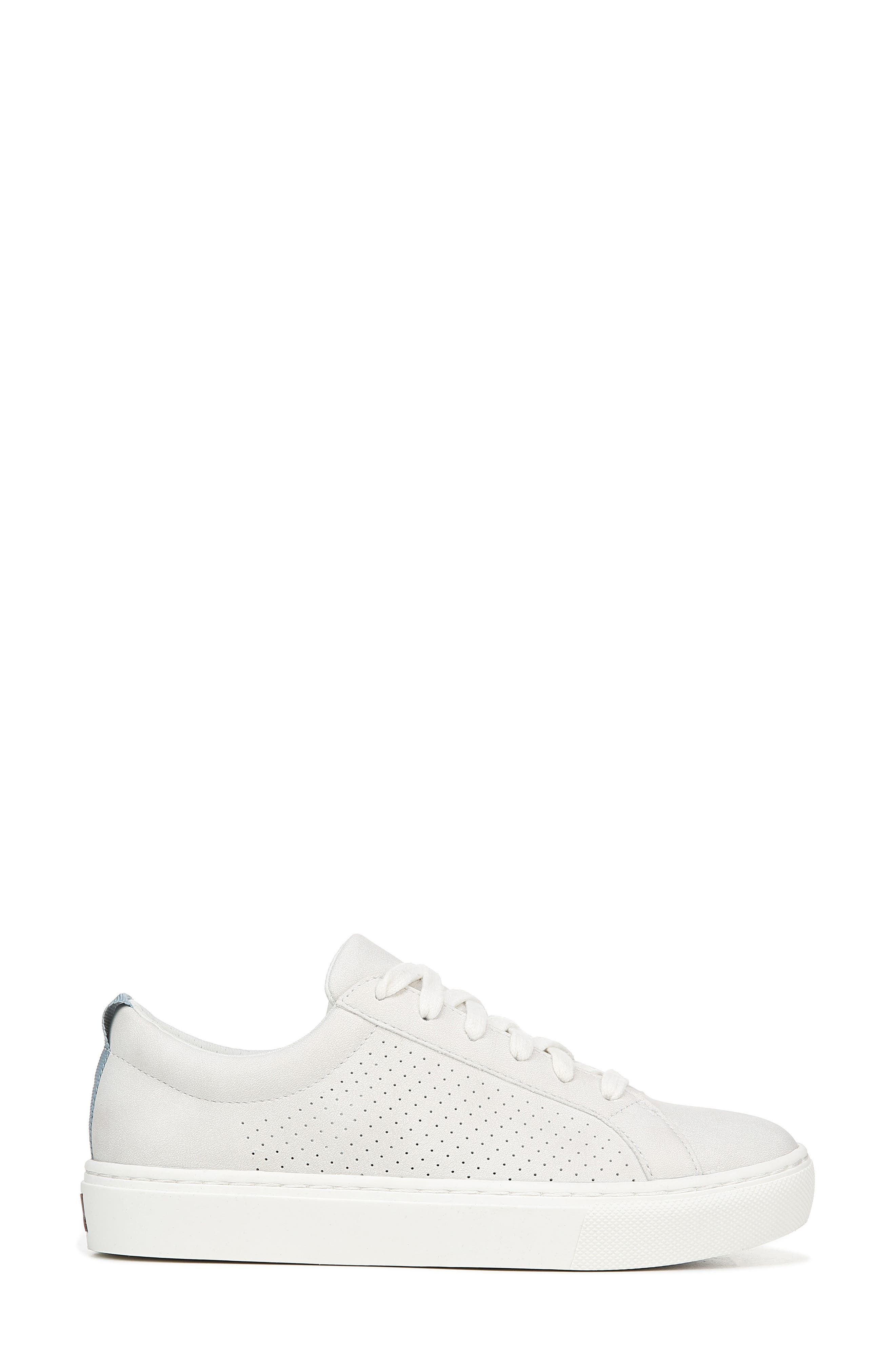 DR. SCHOLL'S, No Bad Vibes Sneaker, Alternate thumbnail 2, color, WHITE FAUX LEATHER
