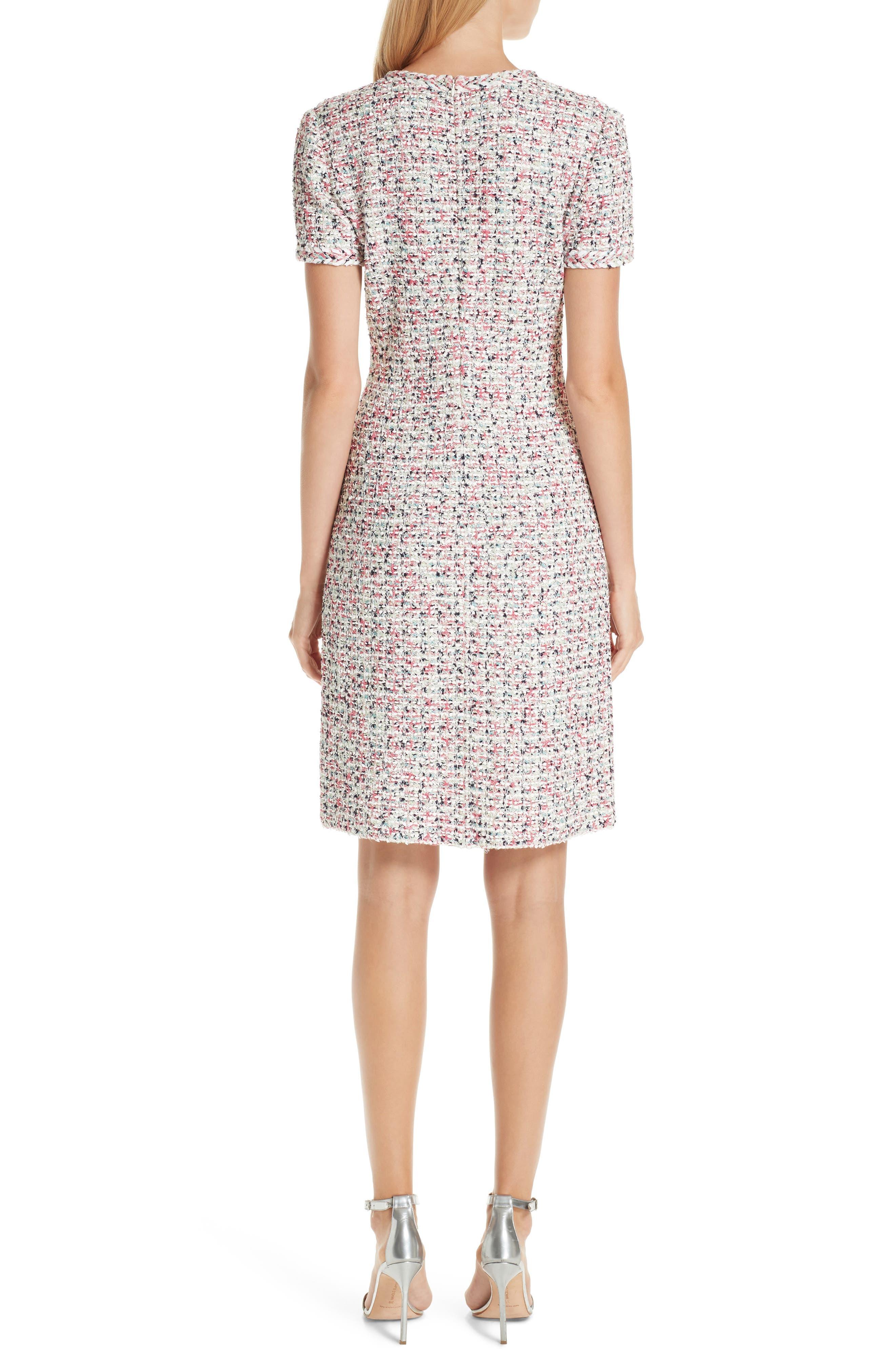 ST. JOHN COLLECTION, Modern Knit Dress, Alternate thumbnail 2, color, CREAM MULTI