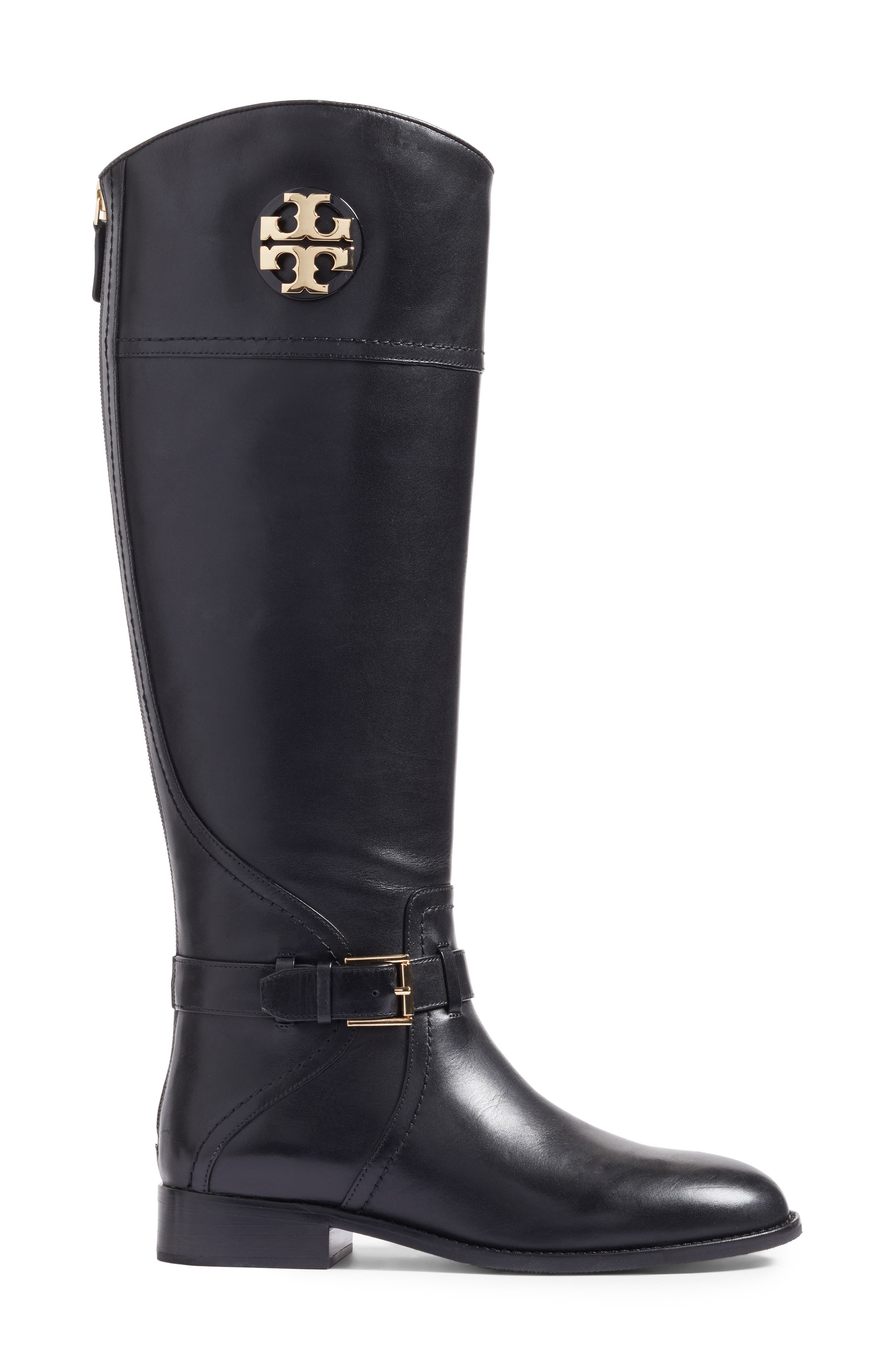 TORY BURCH, Adeline Boot, Alternate thumbnail 3, color, 001