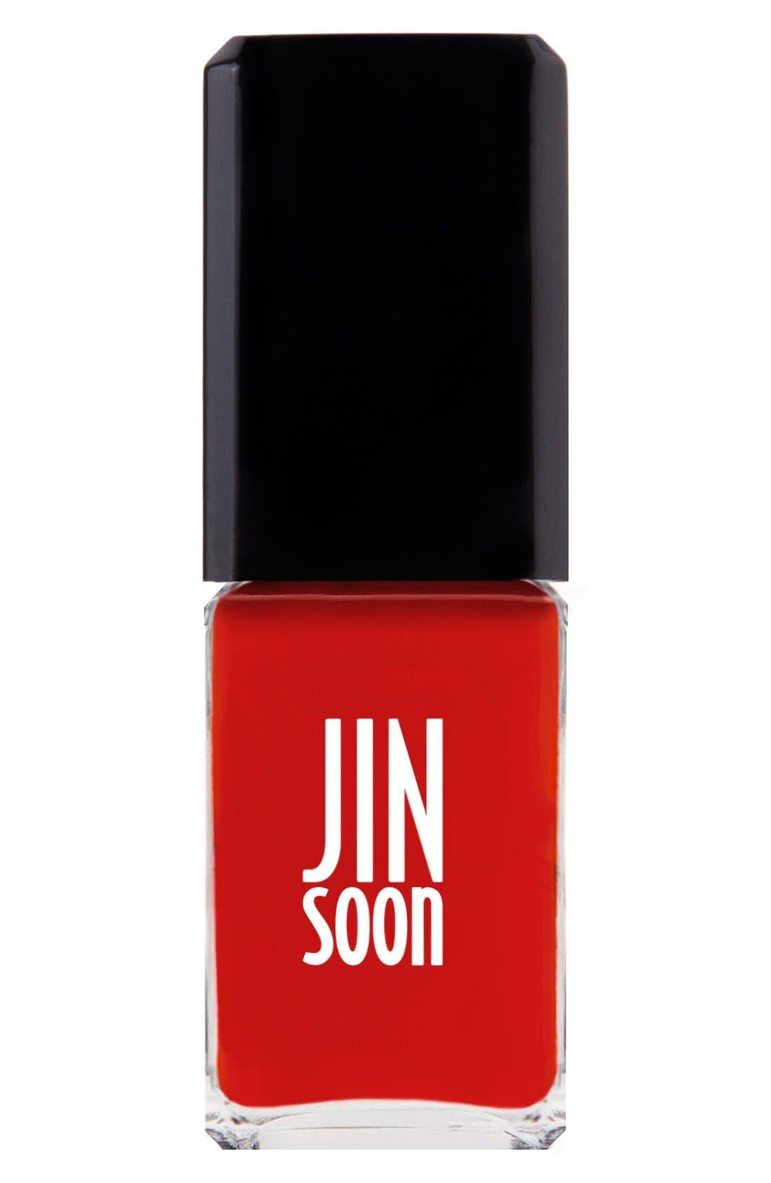 JINSOON, 'Pop Orange' Nail Lacquer, Main thumbnail 1, color, 600