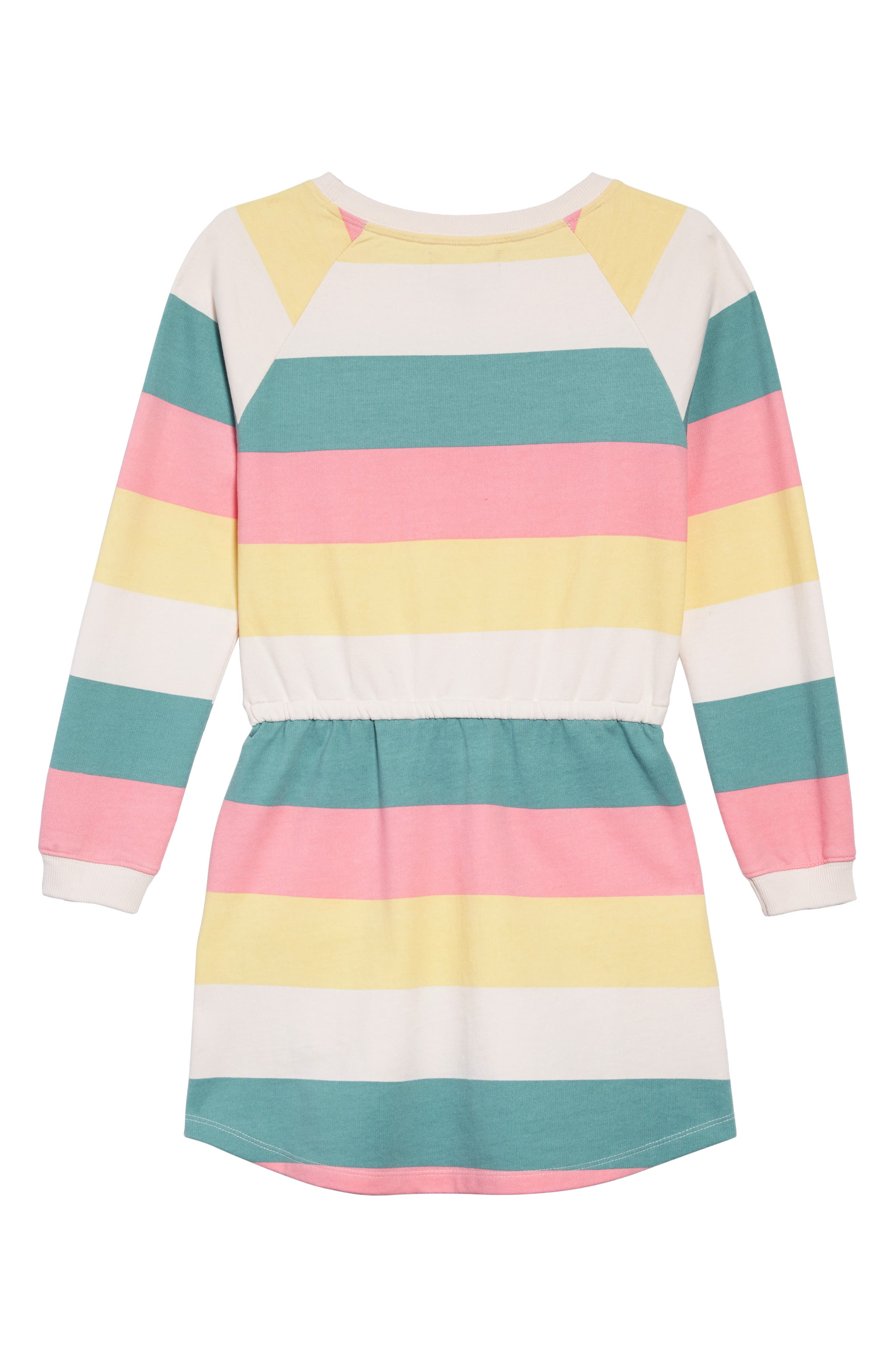 PEEK AREN'T YOU CURIOUS, Brynn Stripe Sweatshirt Dress, Alternate thumbnail 2, color, 650