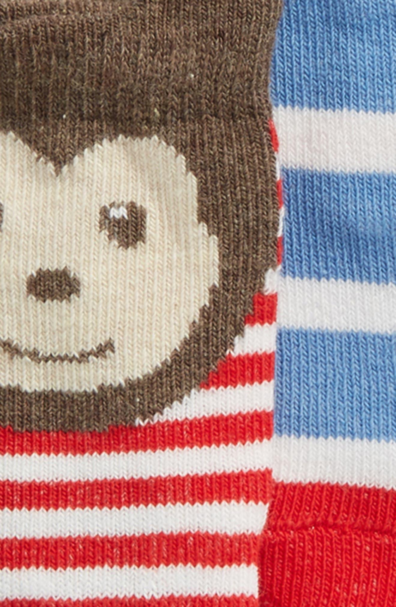 TUCKER + TATE, 6-Pack Animal Socks, Alternate thumbnail 2, color, BOY ANIMAL PACK