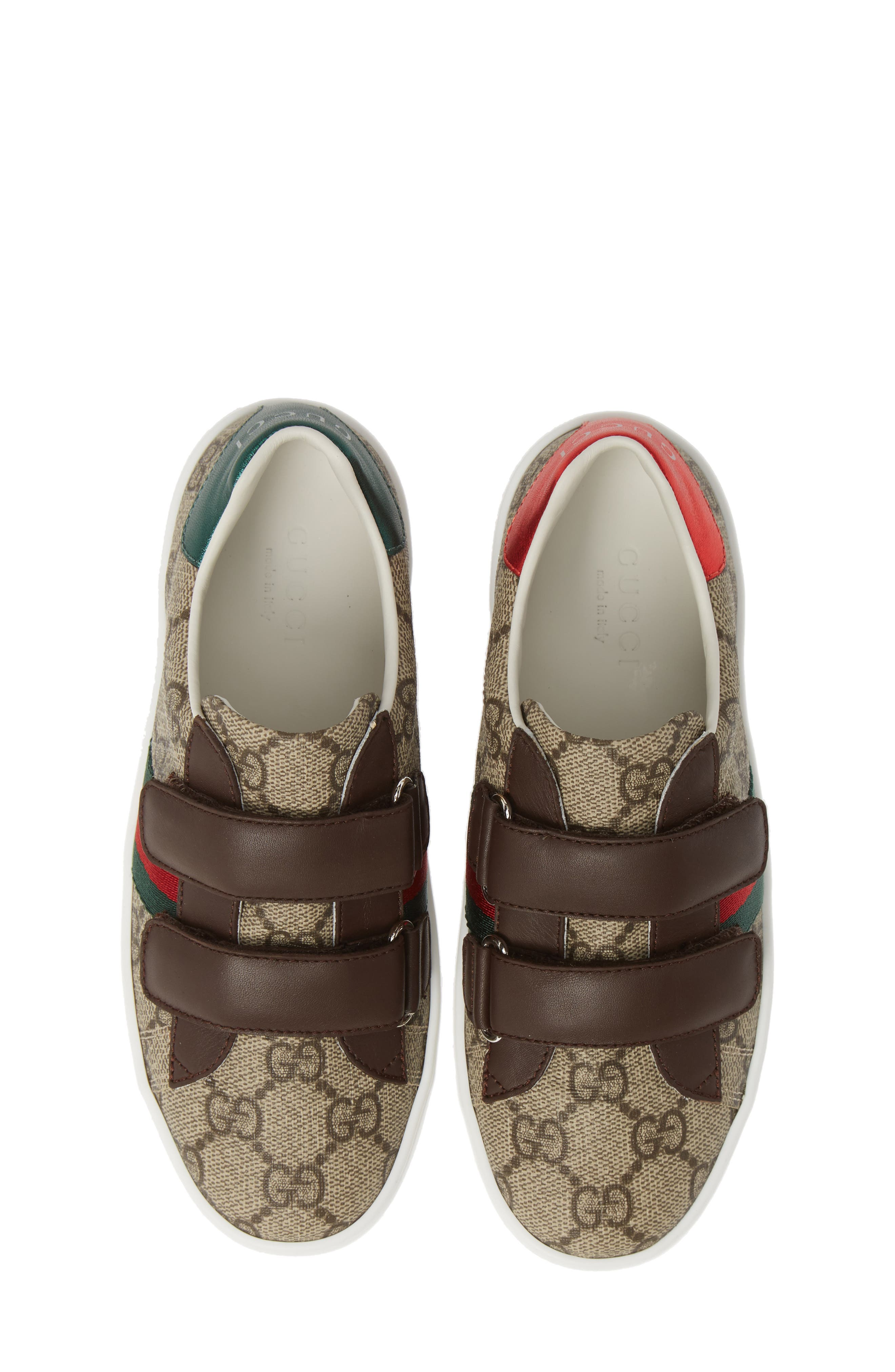 GUCCI, New Ace Monogram Sneaker, Main thumbnail 1, color, BEIGE