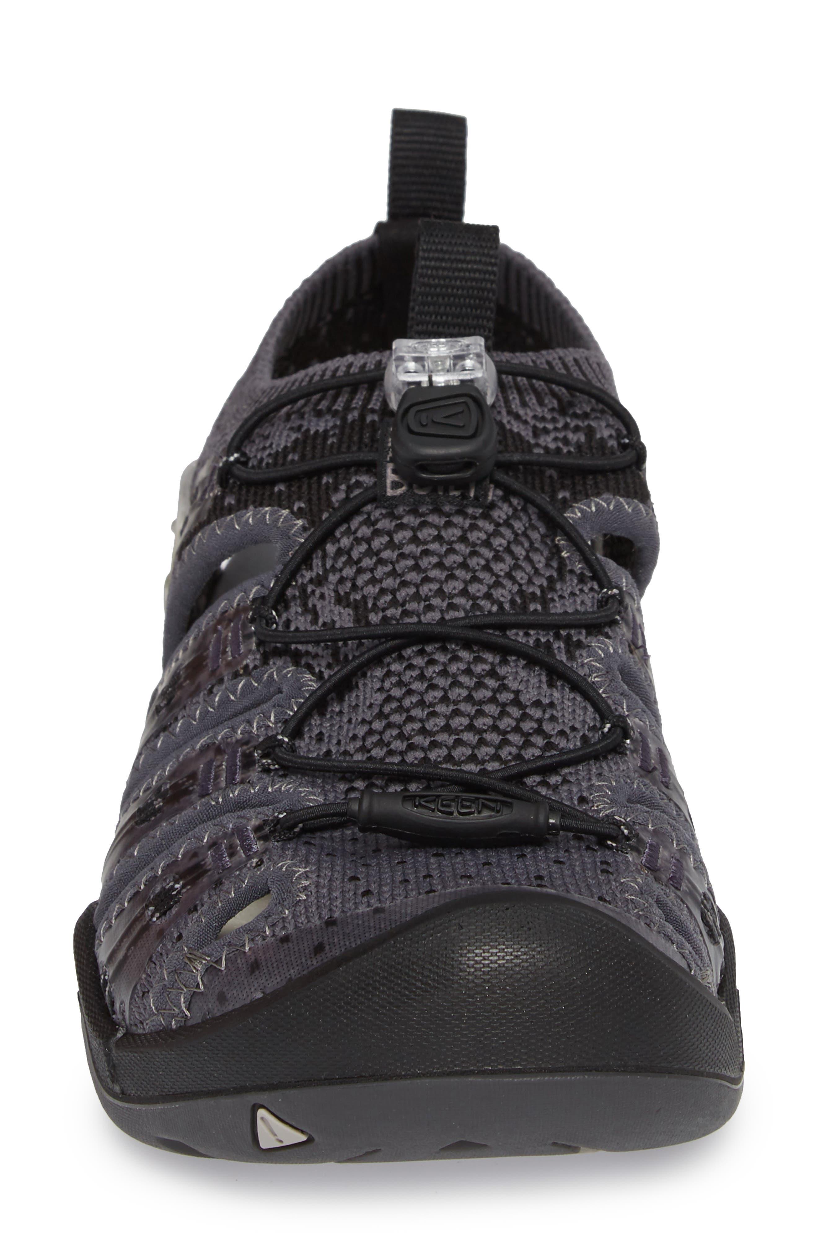 KEEN, EVOFIT One Sandal, Alternate thumbnail 4, color, HEATHERED BLACK/ MAGNET