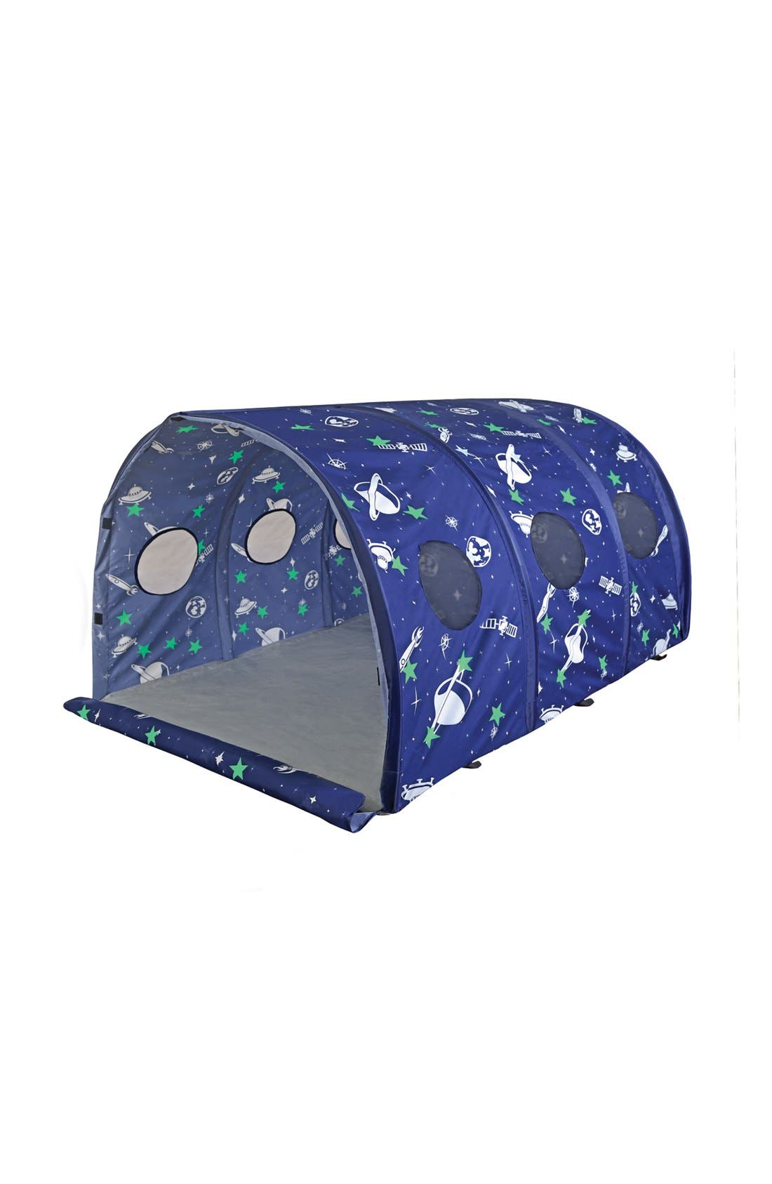 PACIFIC PLAY TENTS, 'Space Capsule' Glow in the Dark Tent, Main thumbnail 1, color, BLUE/ WHITE