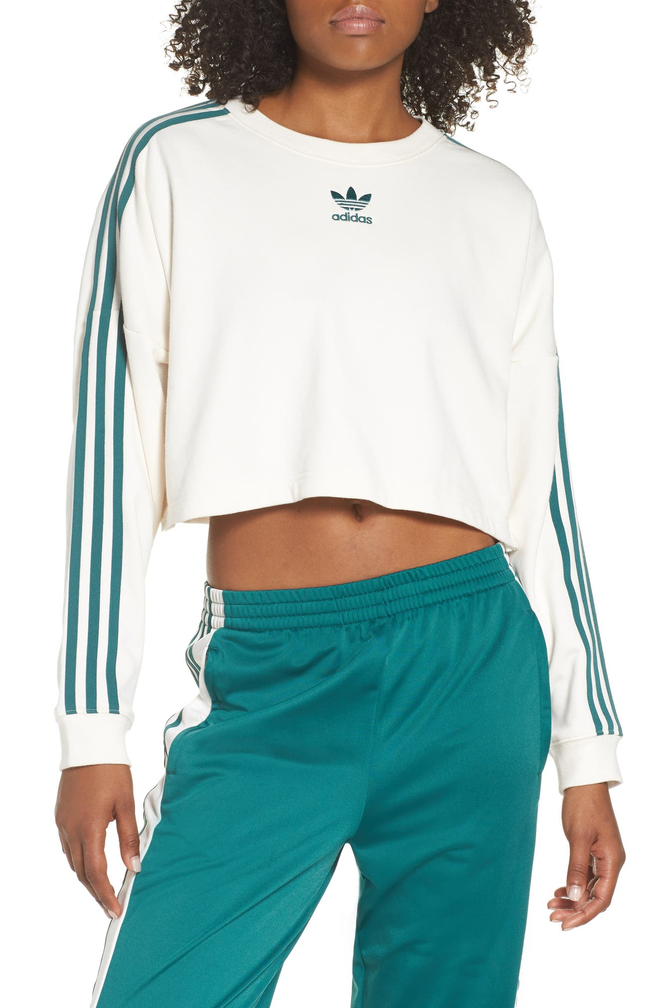 df68da95bbf7 adidas originals adibreak cropped sweatshirt