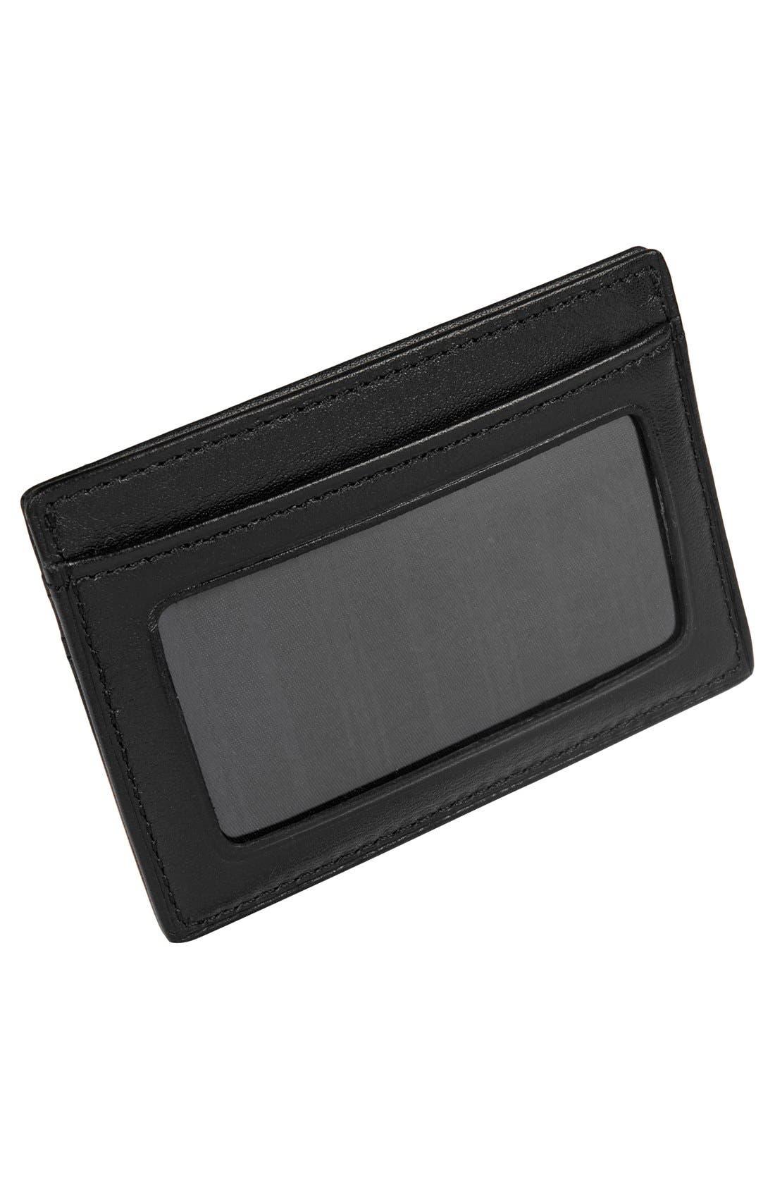 TUMI, Delta - ID Lock<sup>™</sup> Shielded Slim Card Case & ID Wallet, Alternate thumbnail 5, color, BLACK