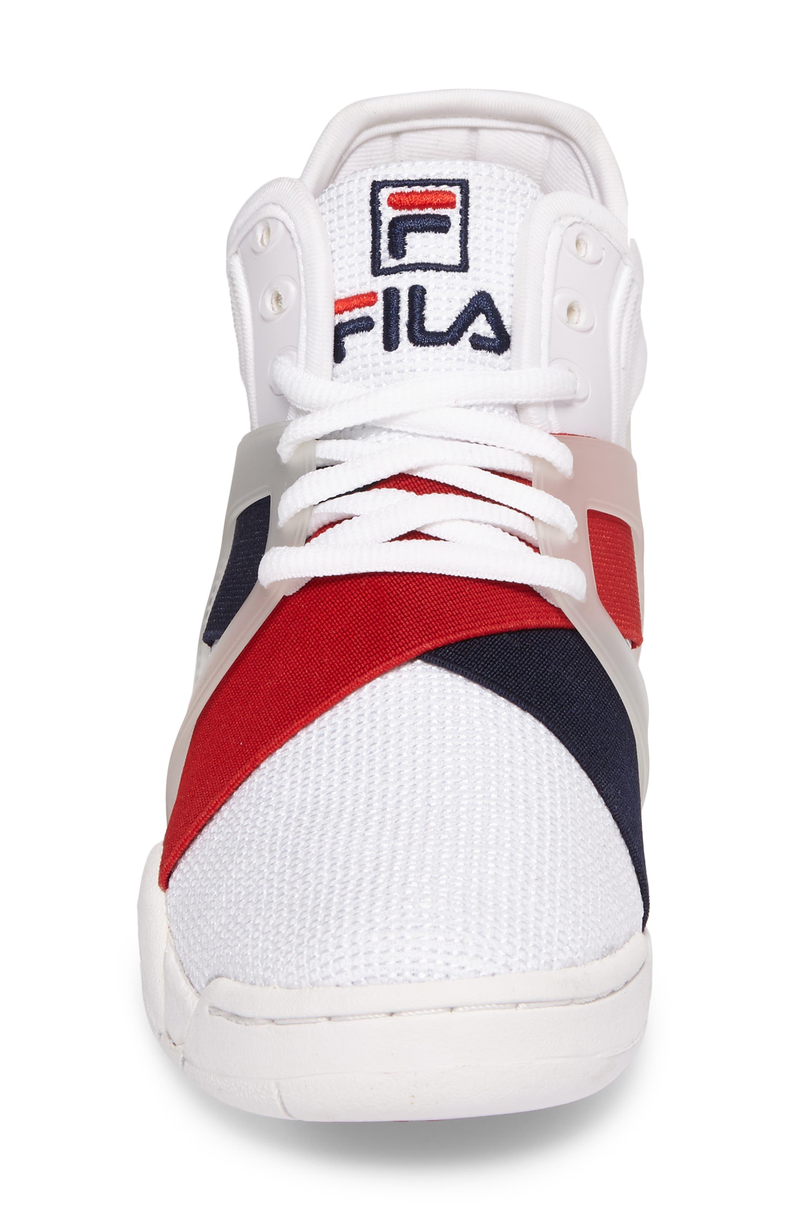 FILA, Cage 17 Logo High Top Sneaker, Alternate thumbnail 4, color, 125