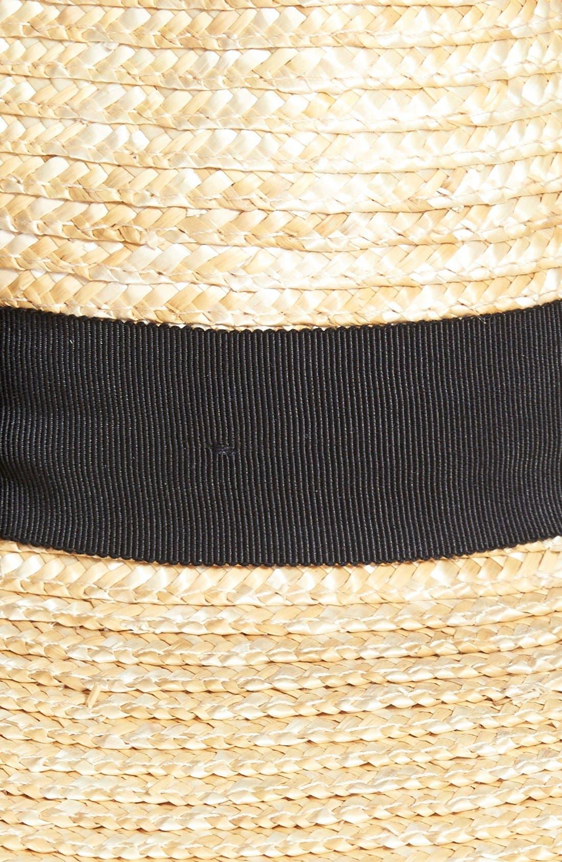 BRIXTON, 'Joanna' Straw Hat, Alternate thumbnail 5, color, HONEY